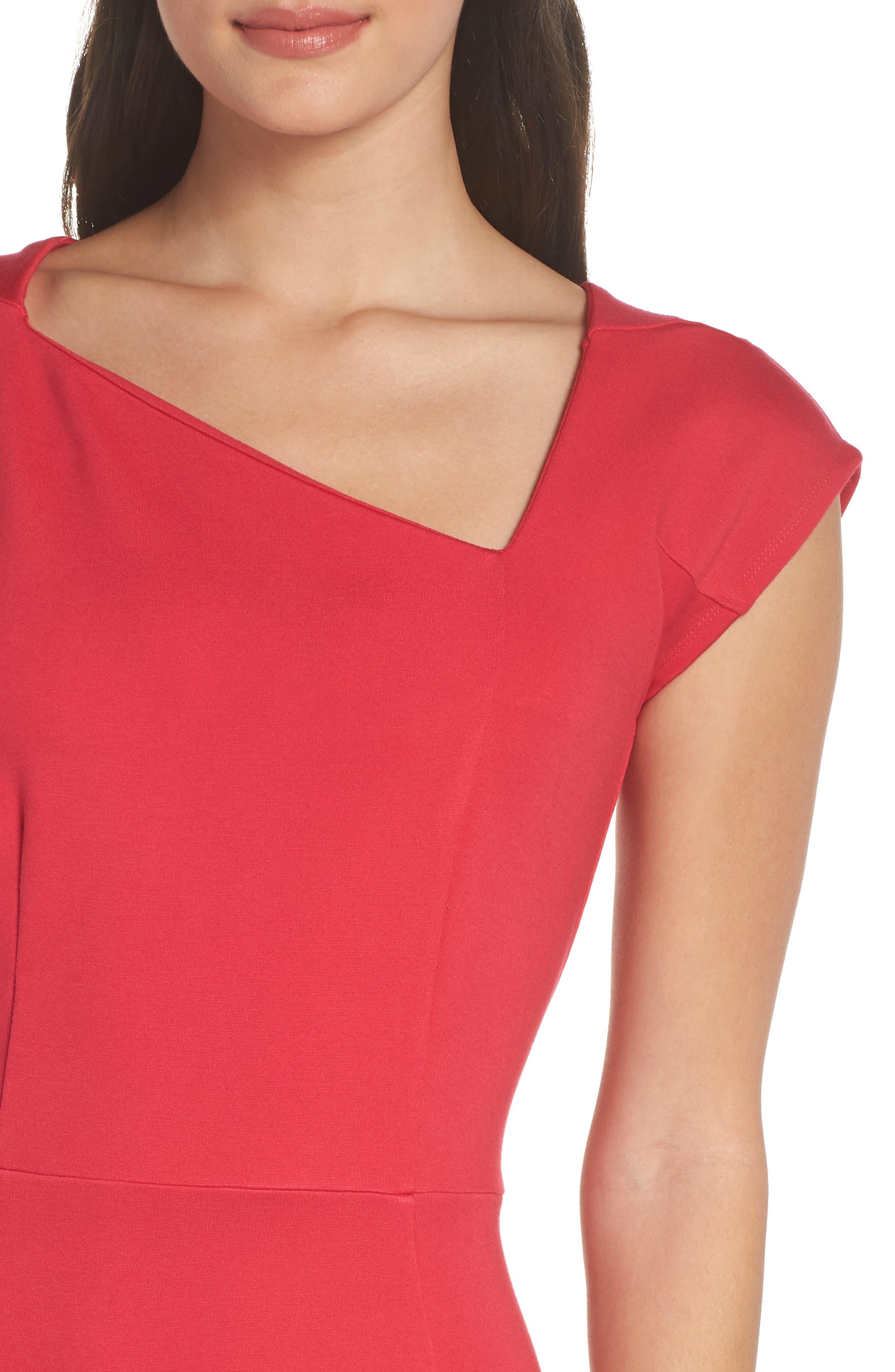 Lula Sheath Dress,                             Alternate thumbnail 4, color,                             WATERMELON