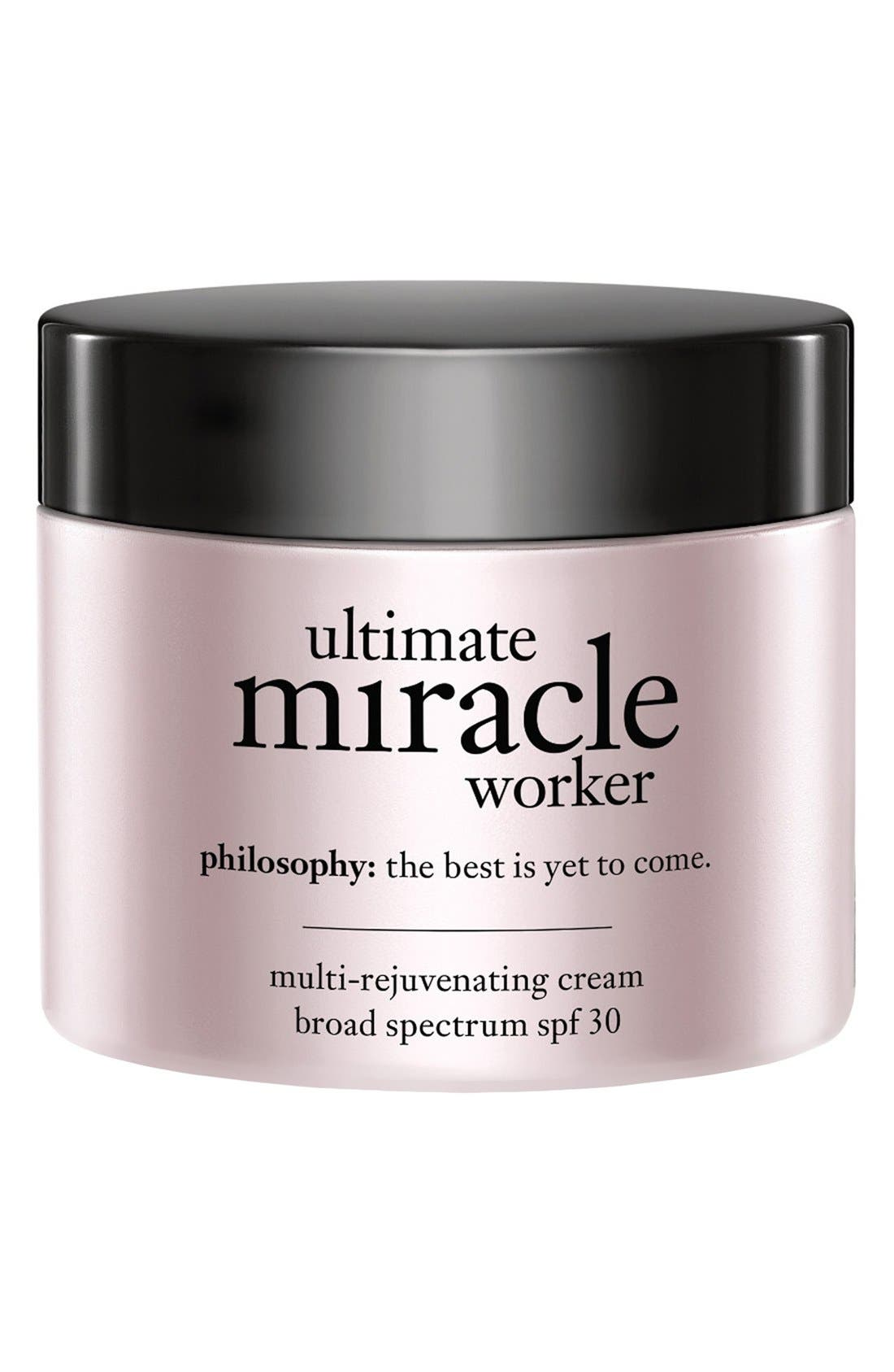 ultimate miracle worker multi-rejuvenating cream broad spectrum SPF 30,                             Alternate thumbnail 3, color,                             NO COLOR