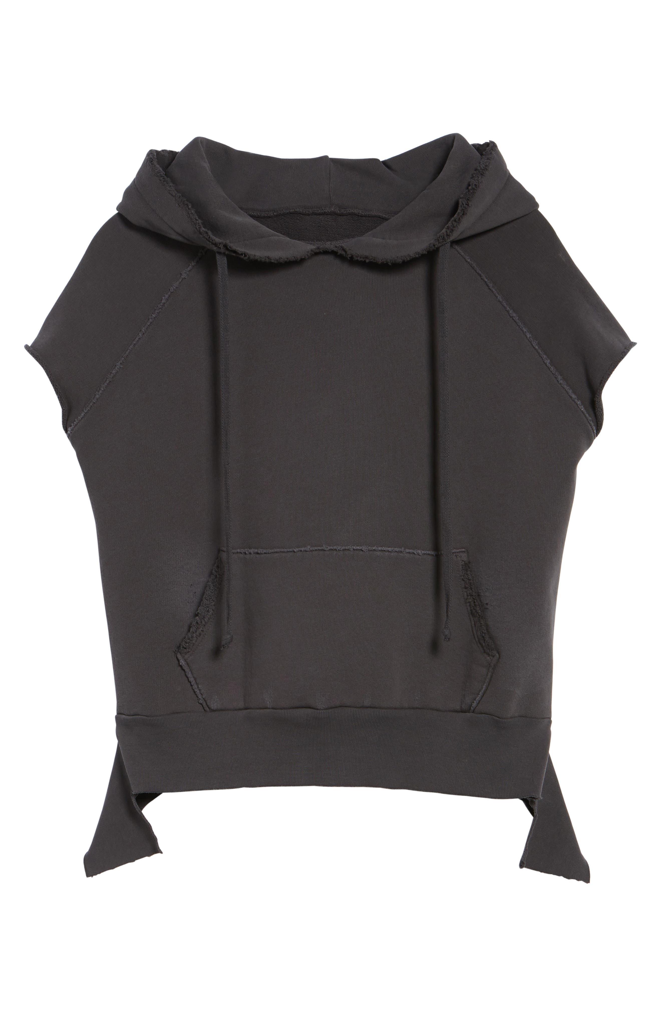 Short Sleeve Pullover Hoodie,                             Alternate thumbnail 7, color,                             020