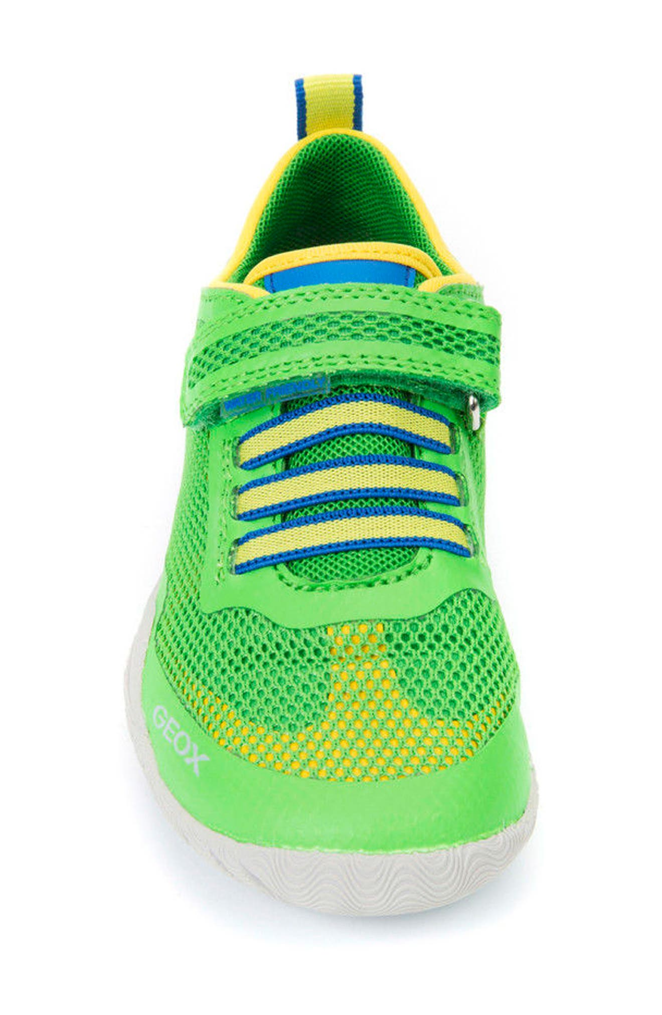 Trifon Sneaker,                             Alternate thumbnail 4, color,                             GREEN/ YELLOW