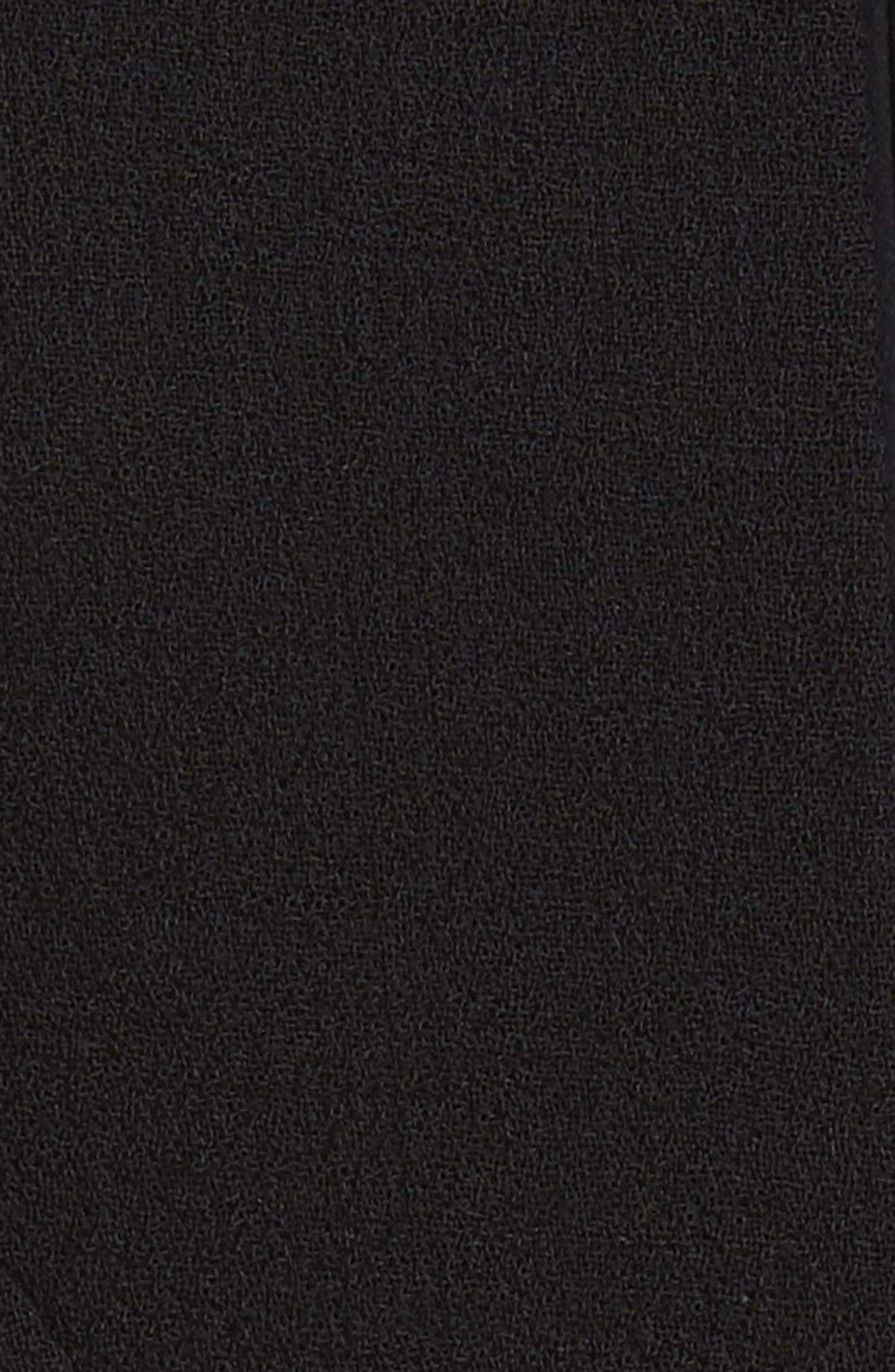 Carmen Marc Valvo Double Face Wool Crepe Sheath Dress,                             Alternate thumbnail 9, color,