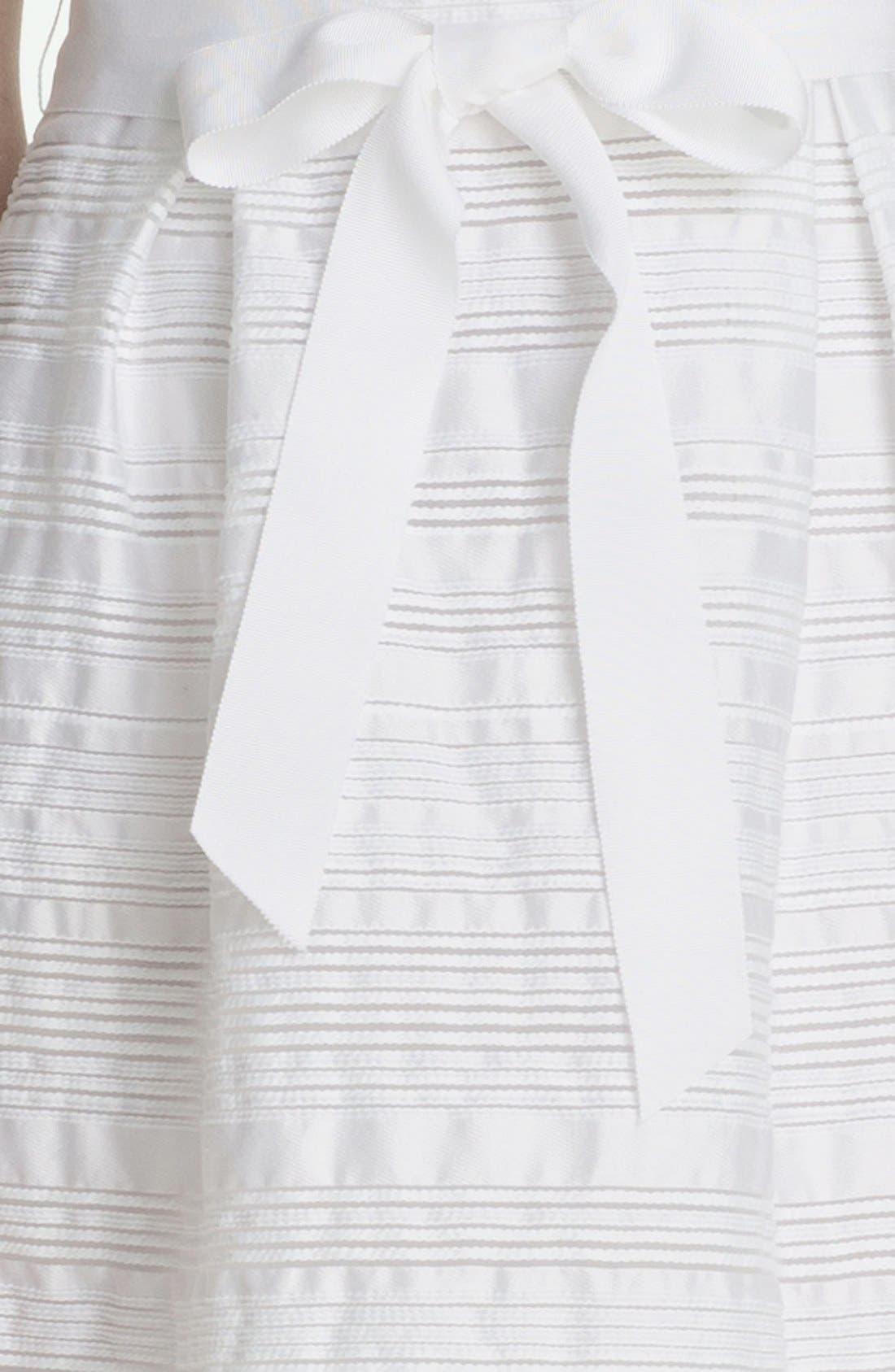 'Fru Fru' Stripe Fit & Flare Dress,                             Alternate thumbnail 3, color,                             131