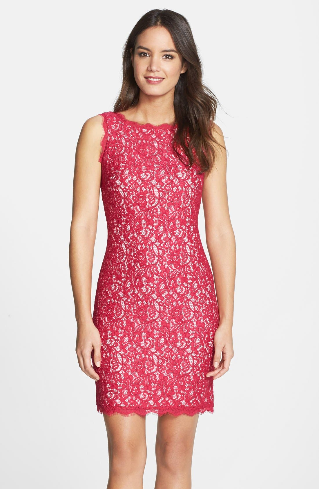Boatneck Lace Sheath Dress,                             Main thumbnail 29, color,