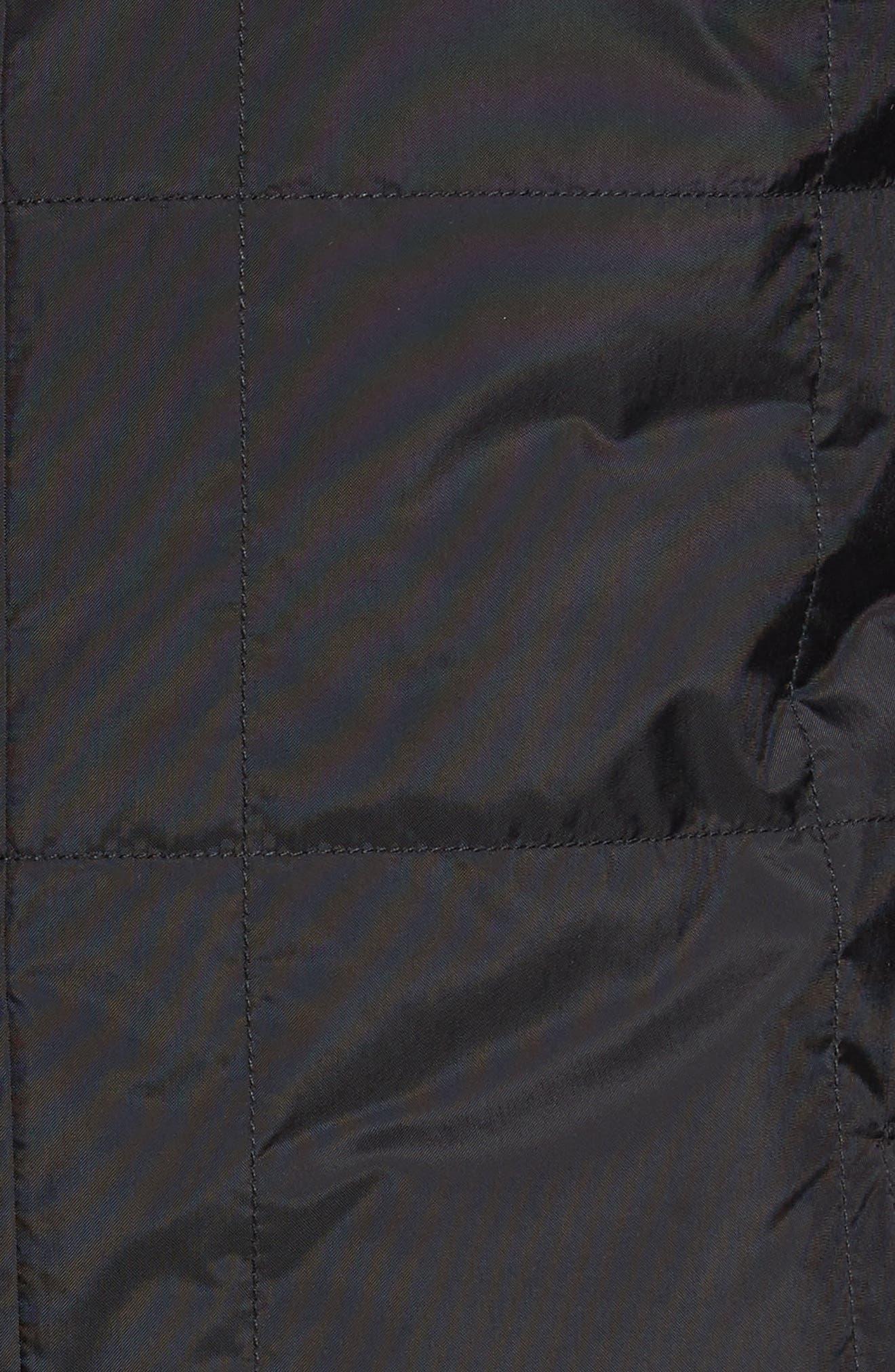 Santiago III Water Repellent Quilted Jacket,                             Alternate thumbnail 5, color,                             001