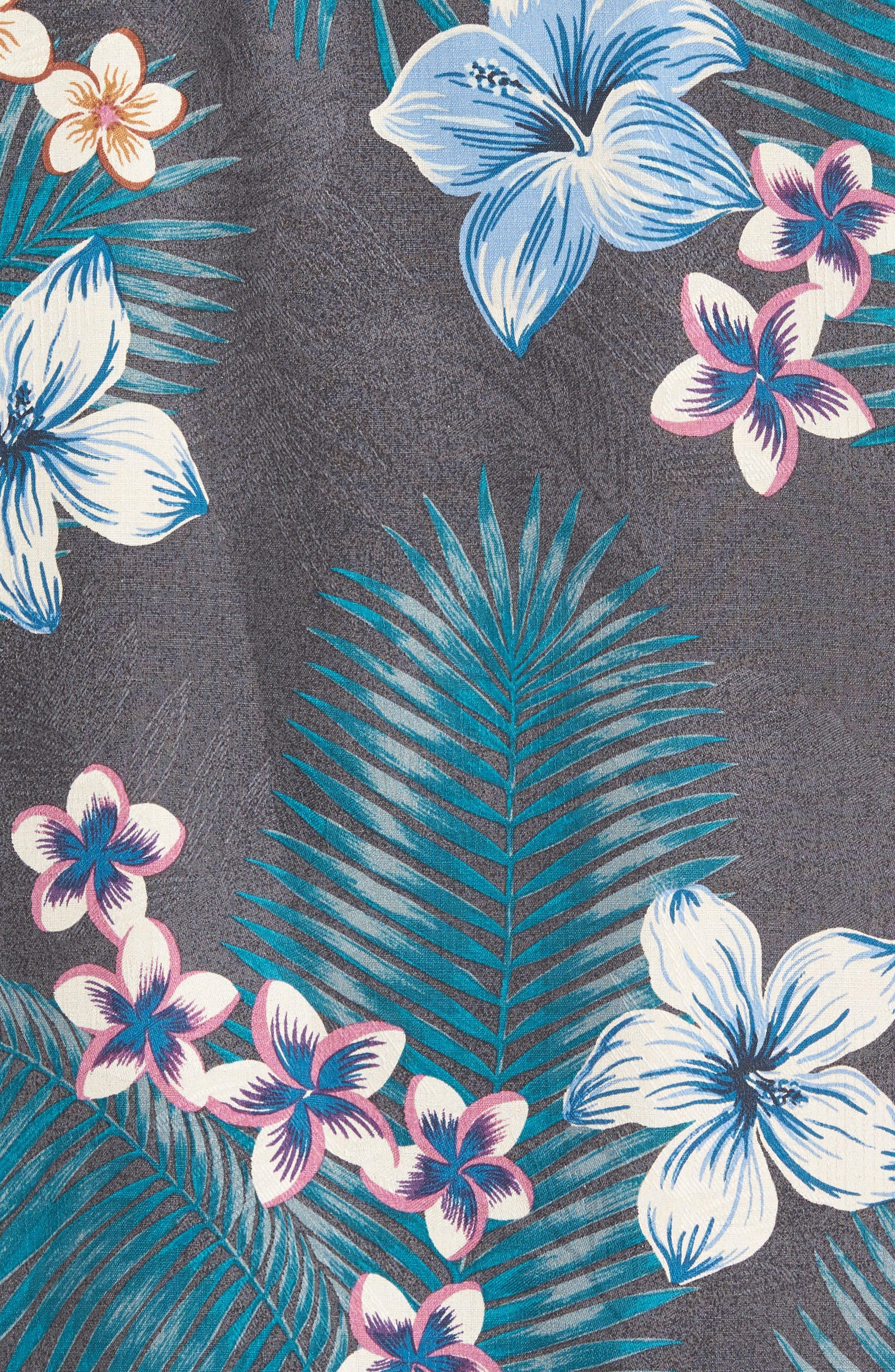Marjorelle Blooms Silk Woven Shirt,                             Alternate thumbnail 5, color,                             001
