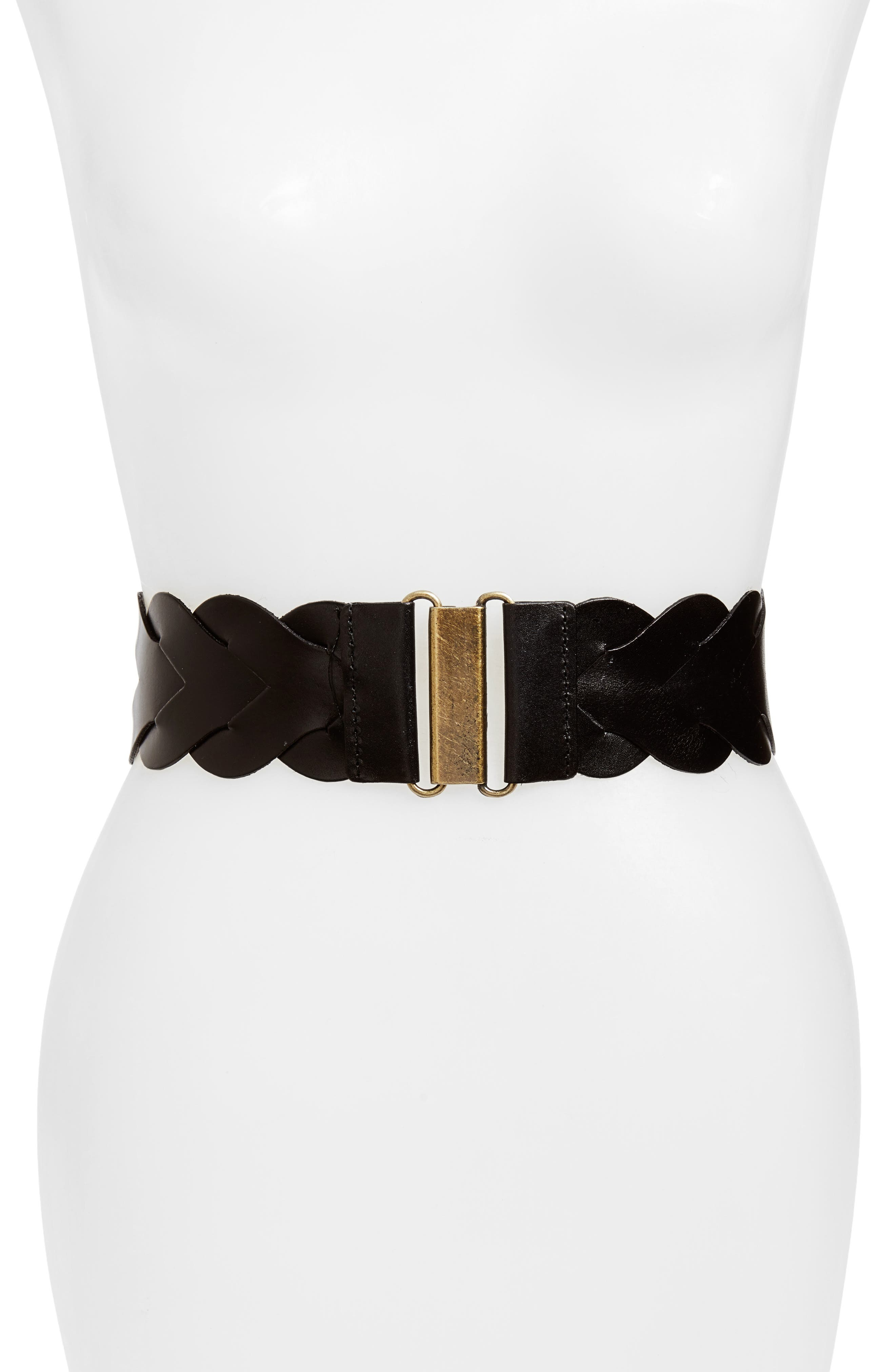 Skylar Stretch Belt,                             Main thumbnail 1, color,                             BLACK