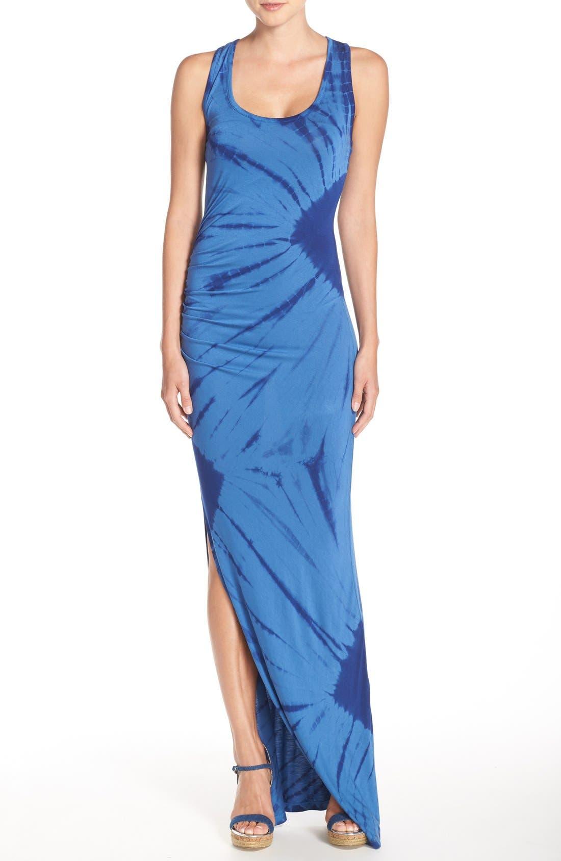 Tie Dye Tank Maxi Dress,                             Main thumbnail 1, color,                             400
