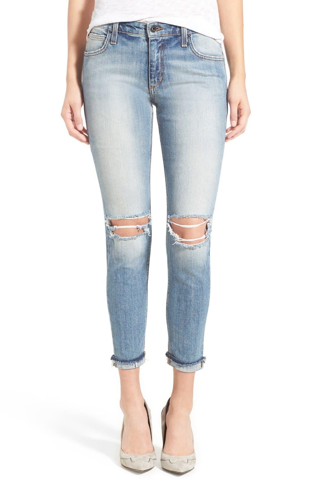 'Collector's - Billie' Ankle Slim Boyfriend Jeans,                             Main thumbnail 1, color,                             430