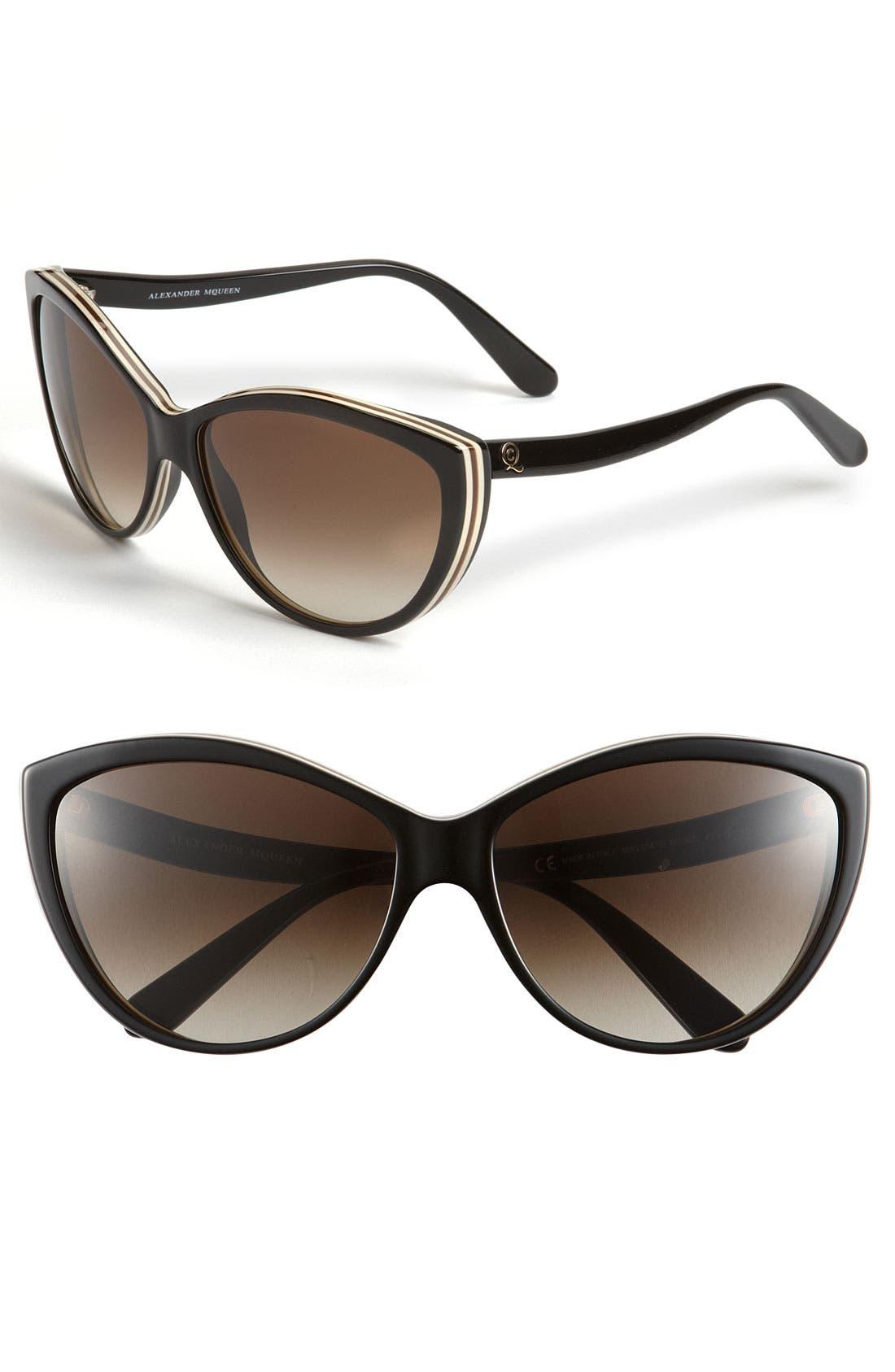 61mm Two-Tone Cat Eye Sunglasses,                             Main thumbnail 6, color,
