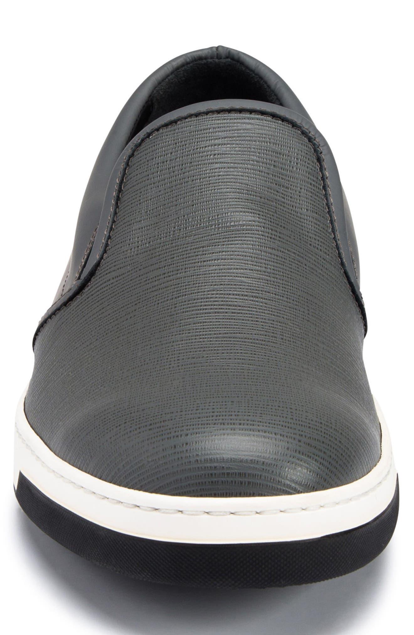 Santorini Slip-On Sneaker,                             Alternate thumbnail 4, color,                             GRAFITE