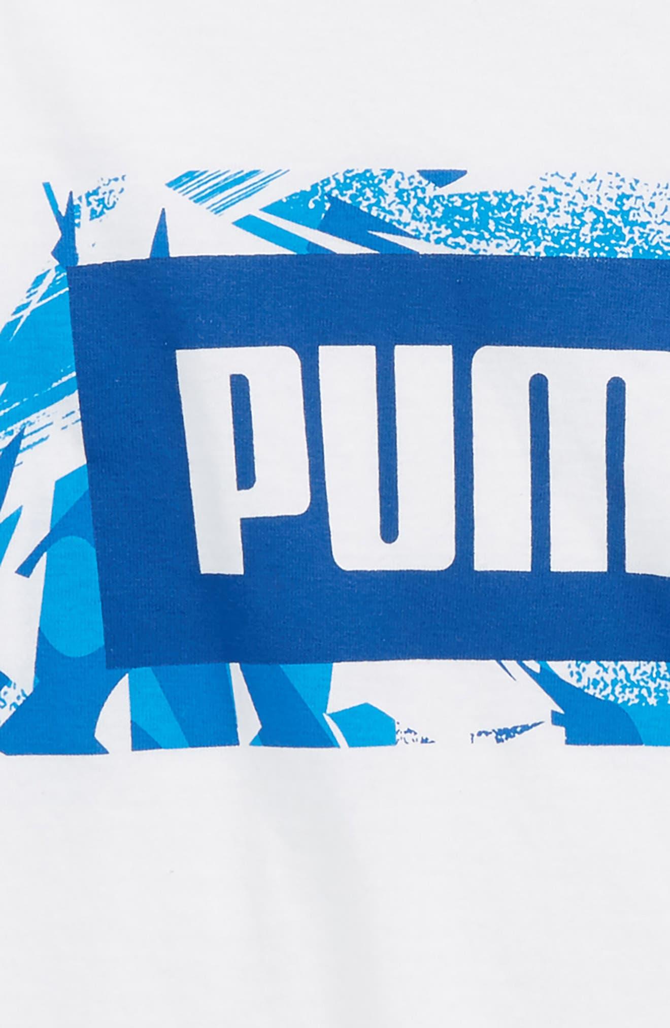 PUMA,                             Graphic T-Shirt,                             Alternate thumbnail 2, color,                             100