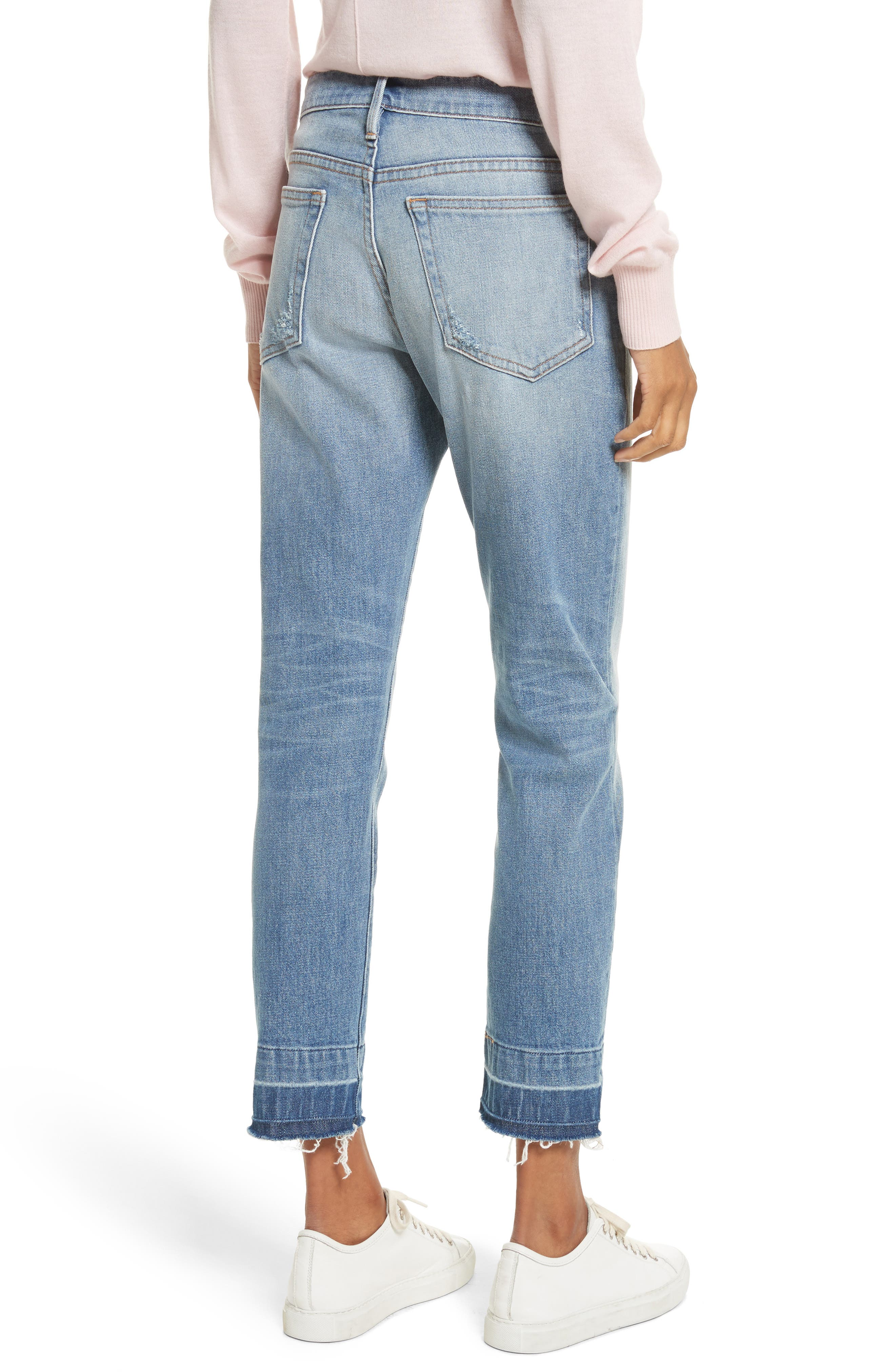 Le Boy Ripped High Waist Jeans,                             Alternate thumbnail 2, color,