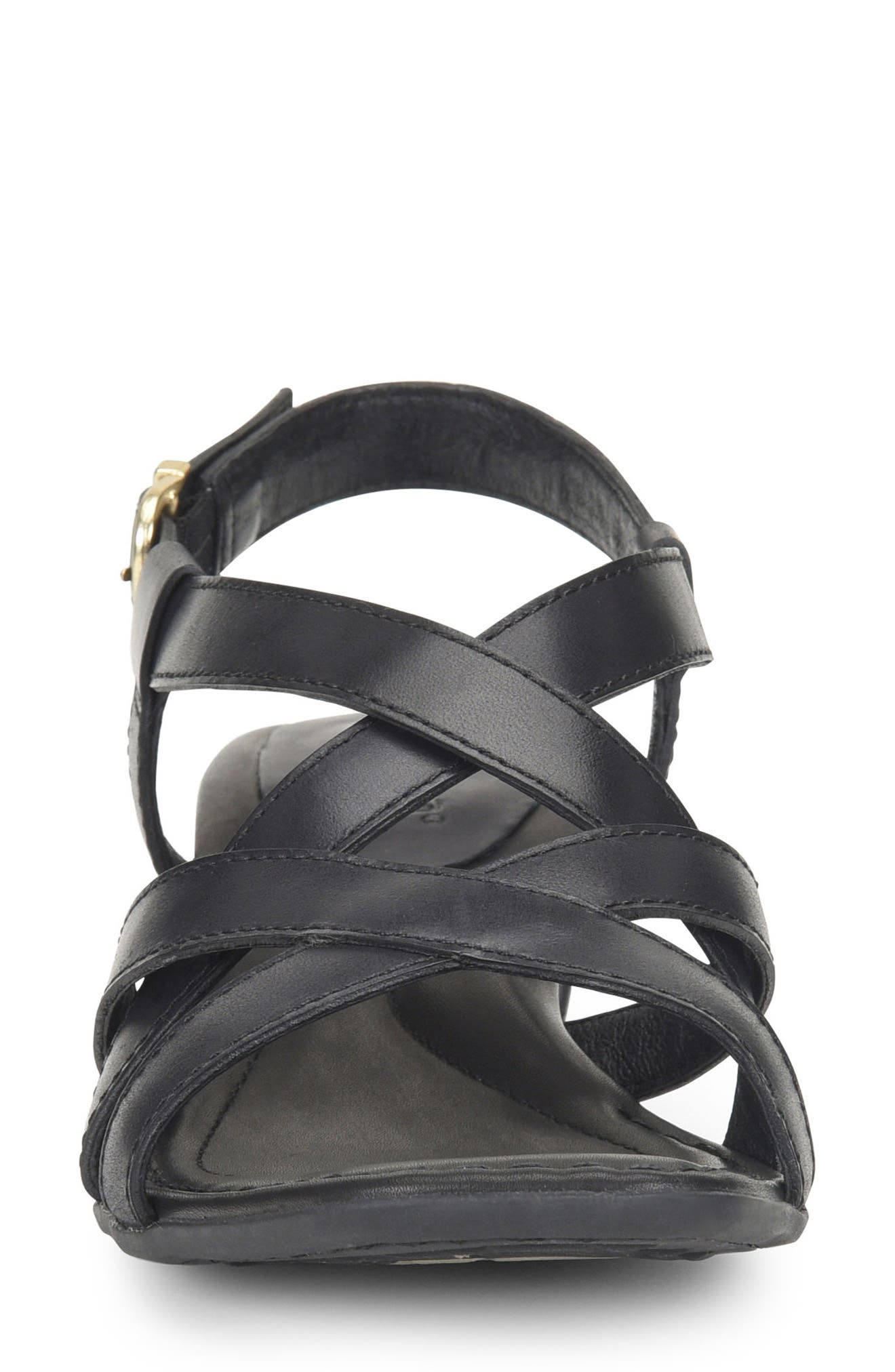 Bouvet Easy Sandal,                             Alternate thumbnail 4, color,                             BLACK LEATHER