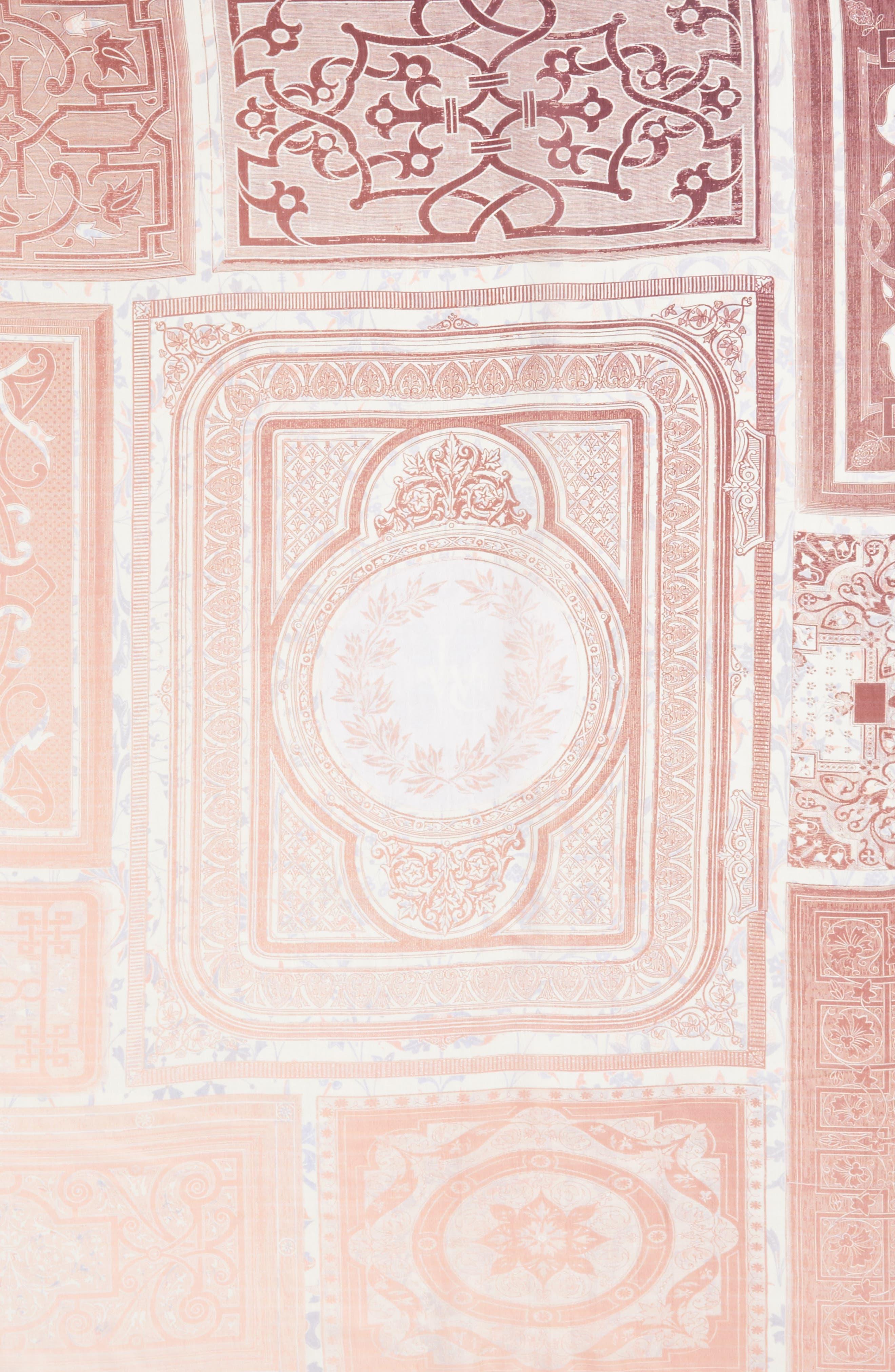 Plate Silk Scarf,                             Alternate thumbnail 3, color,                             250