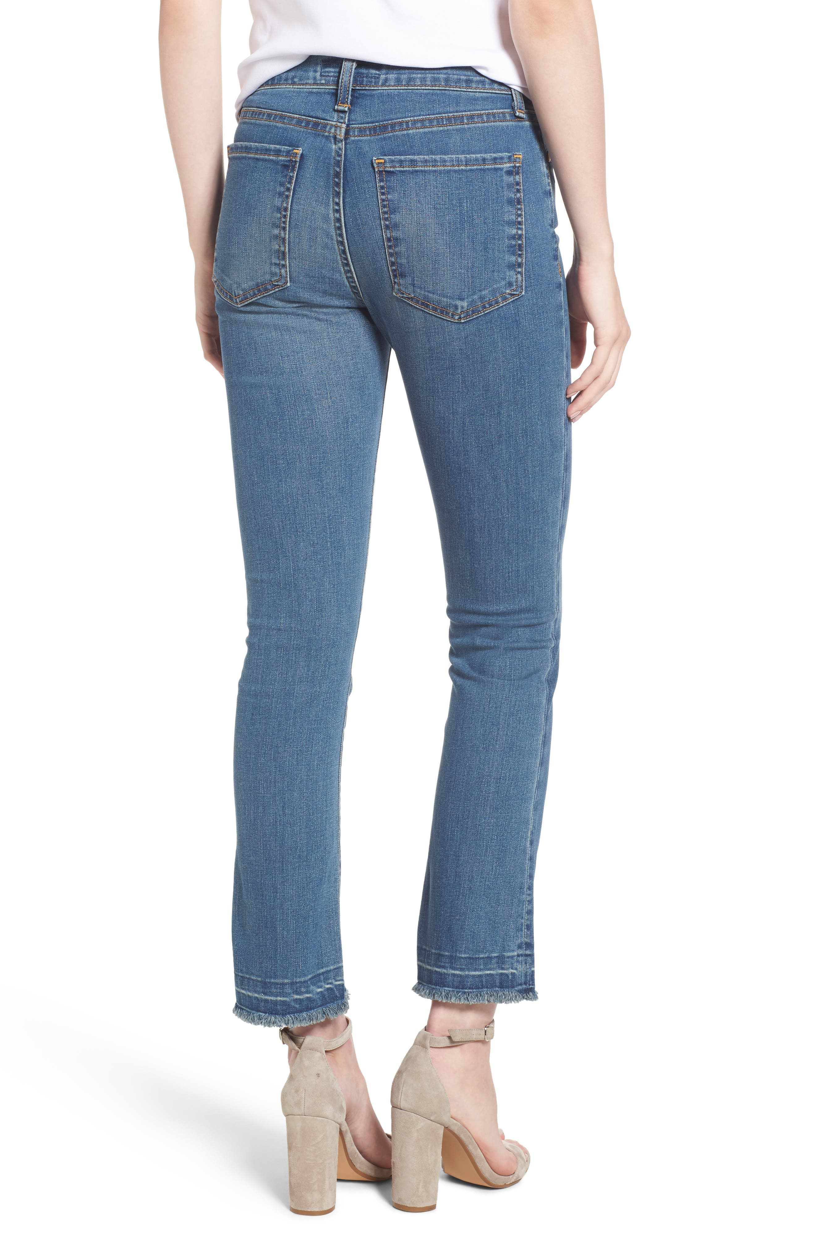 Crop Flare Jeans,                             Alternate thumbnail 2, color,                             420