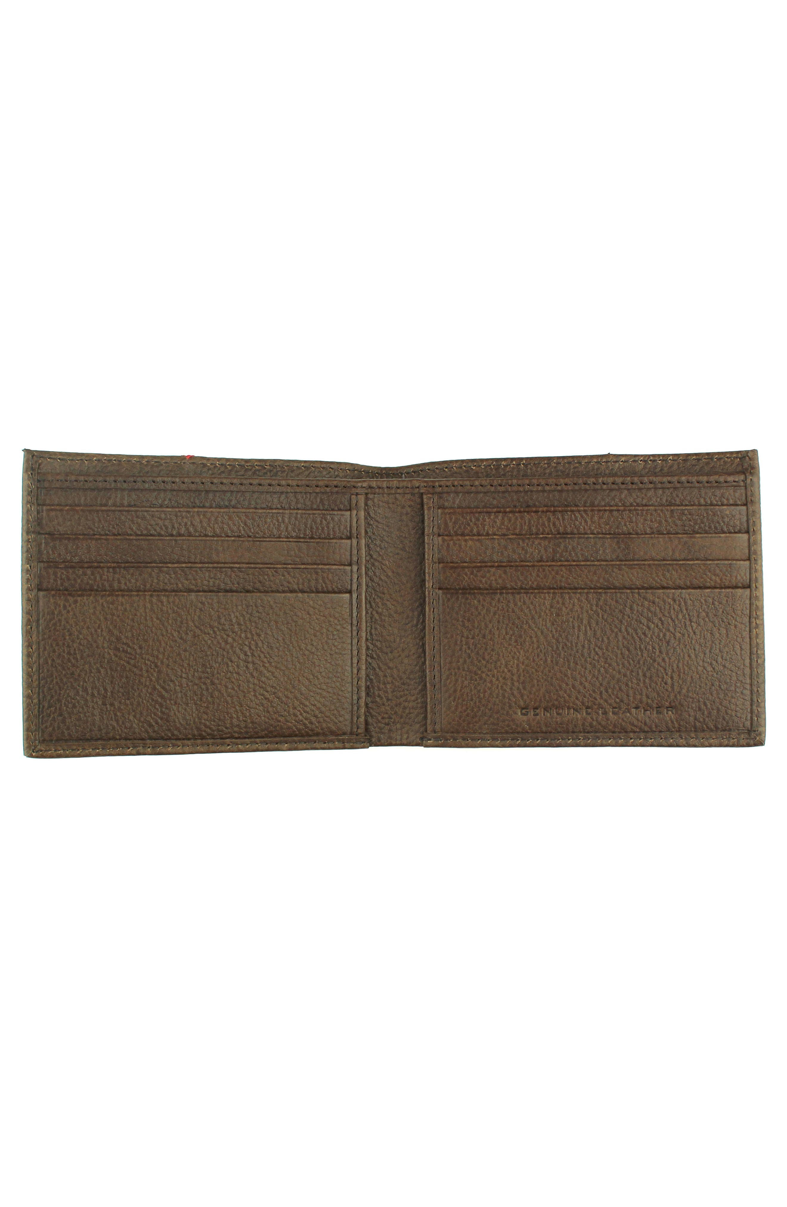 Home Run Bifold Leather Wallet,                             Alternate thumbnail 6, color,