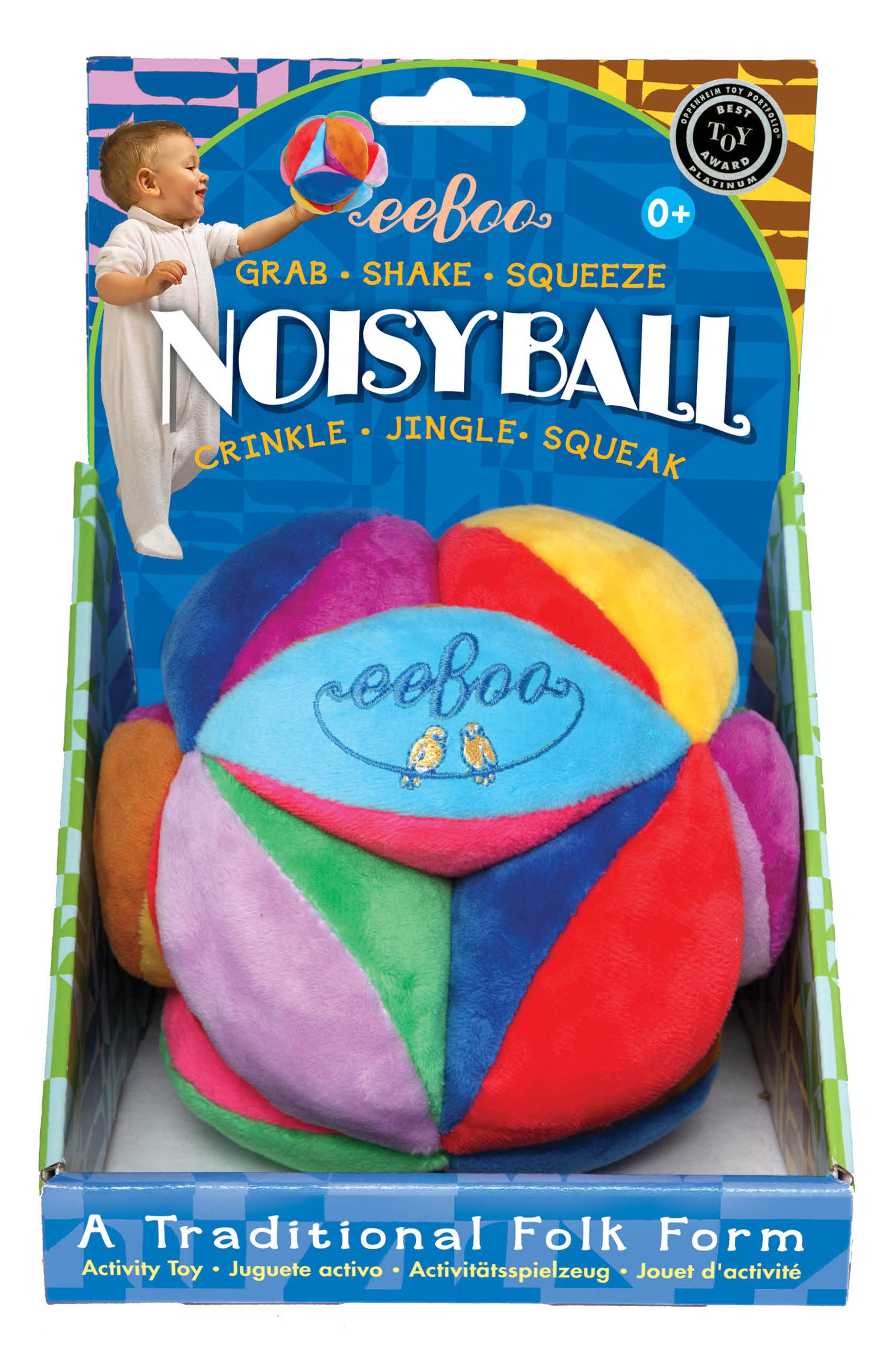 Plush Ball Rattle,                         Main,                         color, 400