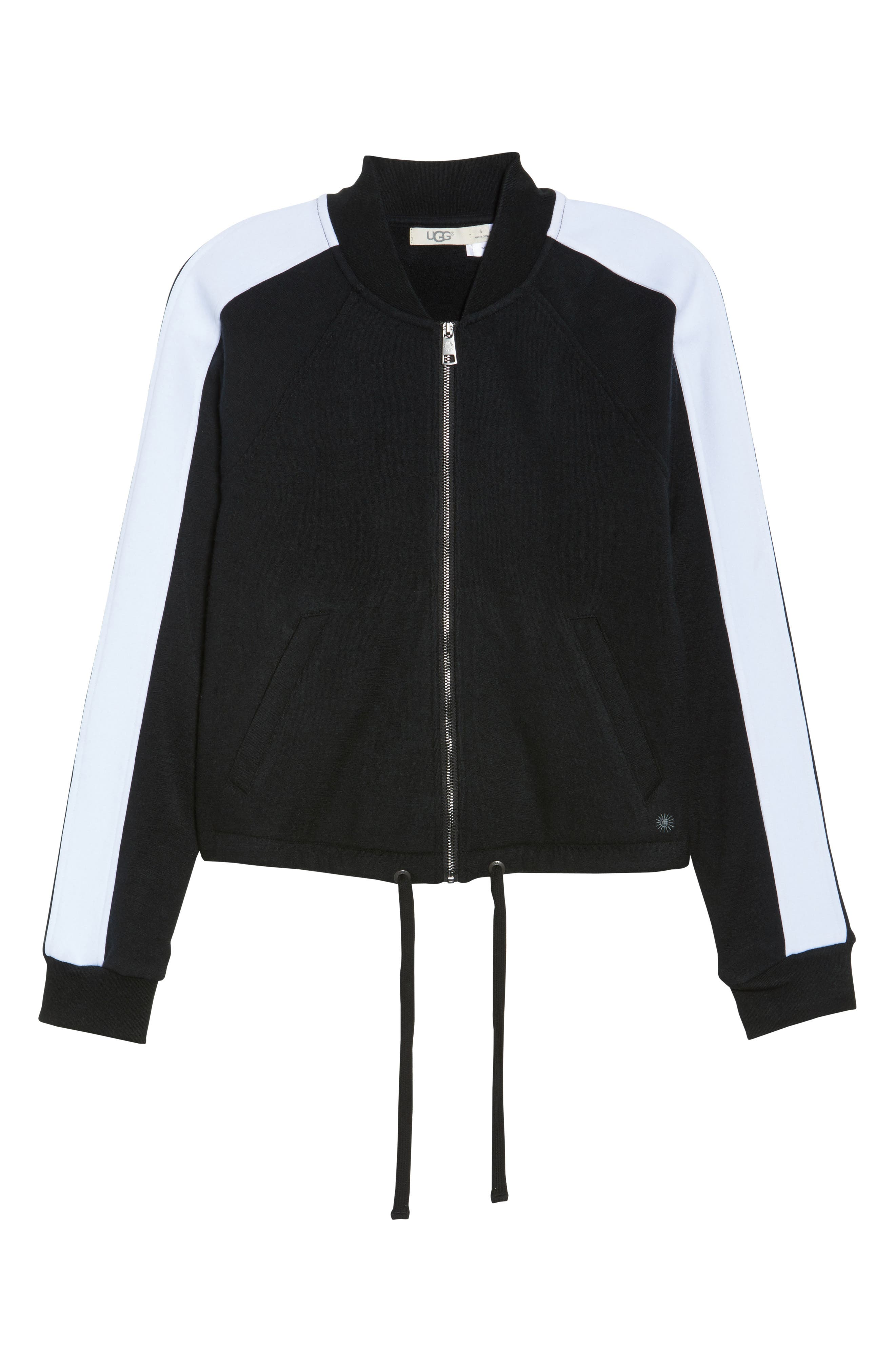 UGG<SUP>®</SUP>,                             Lizy Track Jacket,                             Alternate thumbnail 6, color,                             003