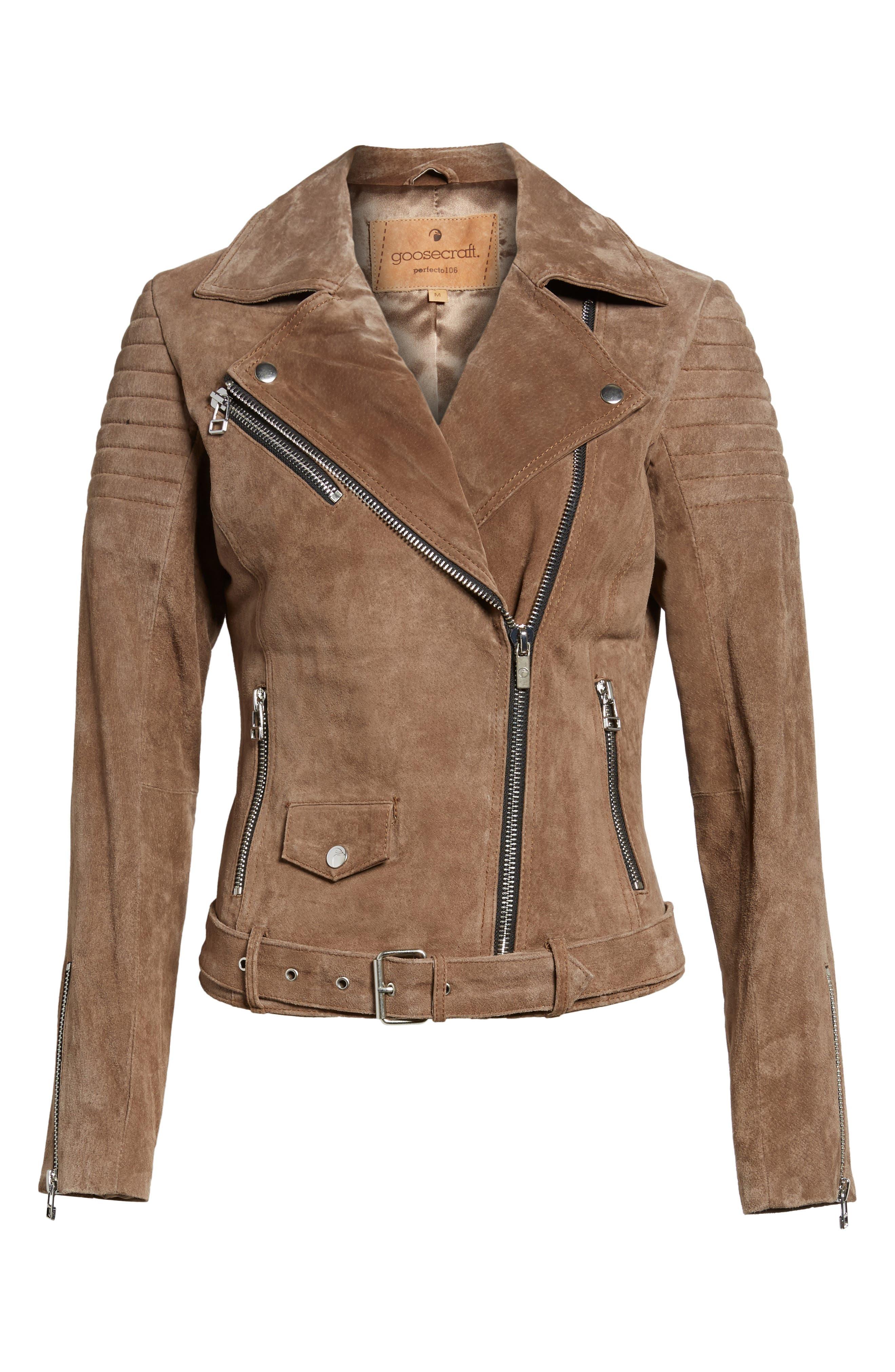 Suede Moto Jacket,                             Alternate thumbnail 5, color,                             250