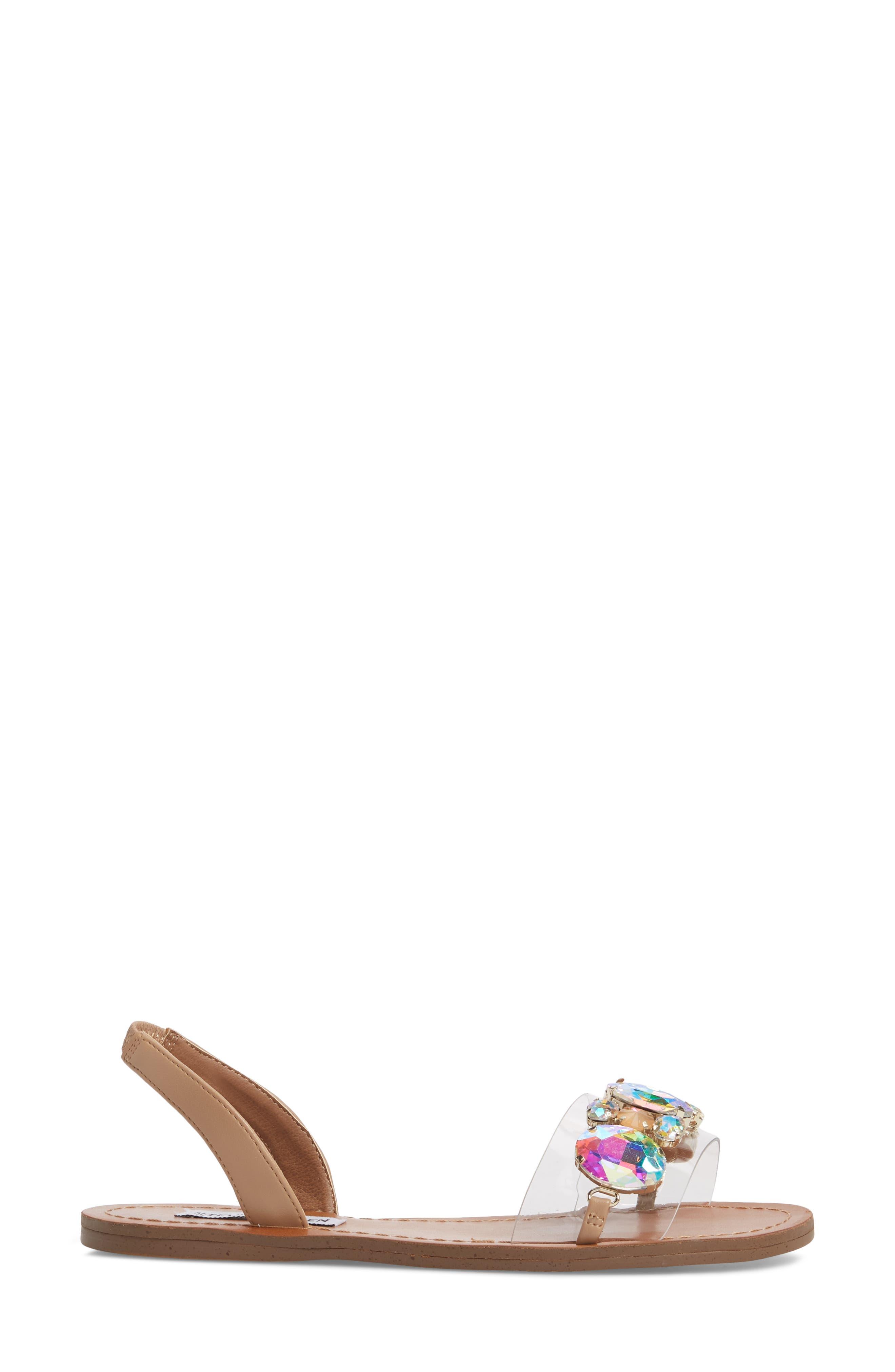 Alice Crystal Embellished Sandal,                             Alternate thumbnail 3, color,