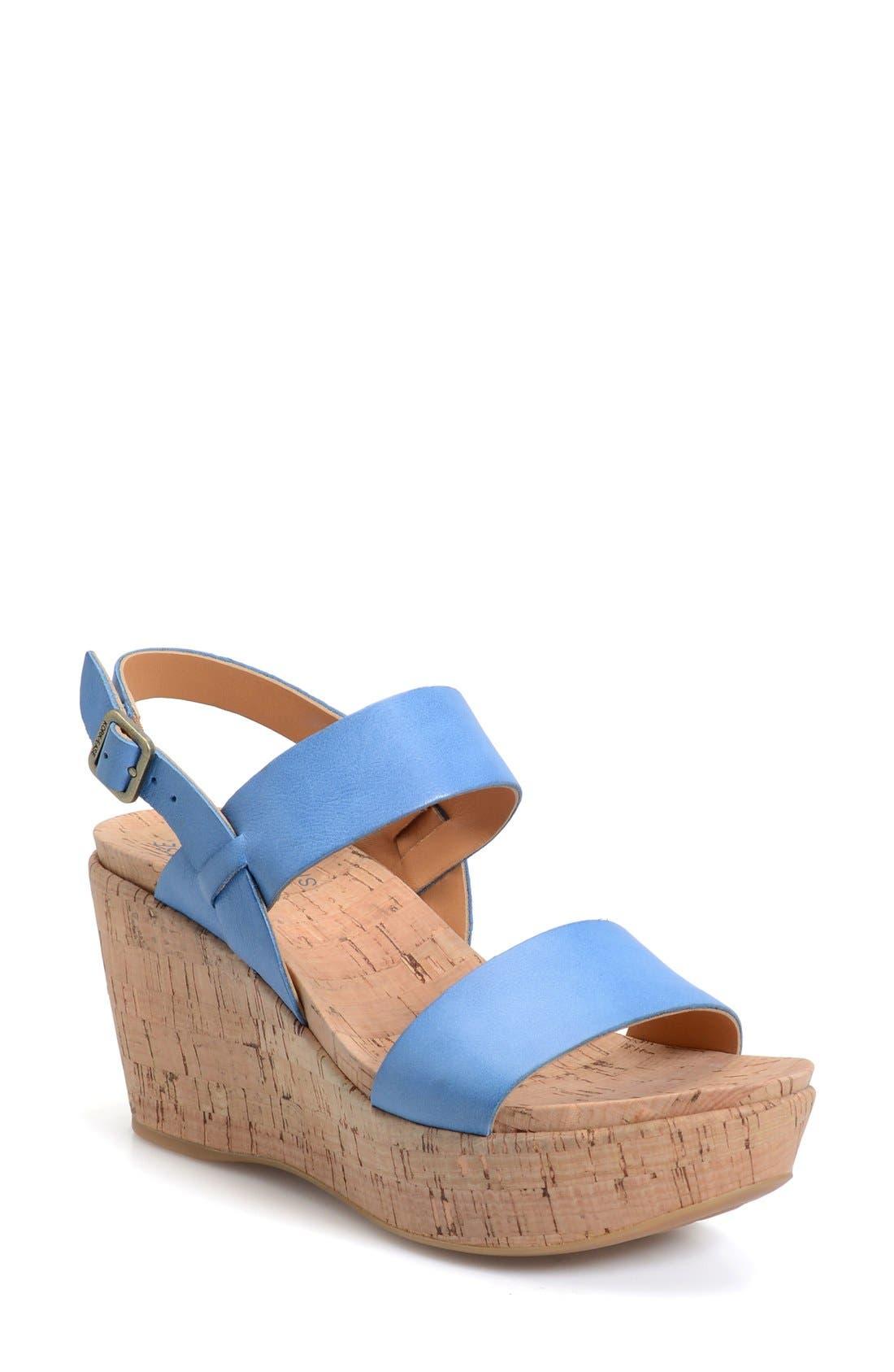 'Austin' Slingback Wedge Sandal,                             Main thumbnail 7, color,