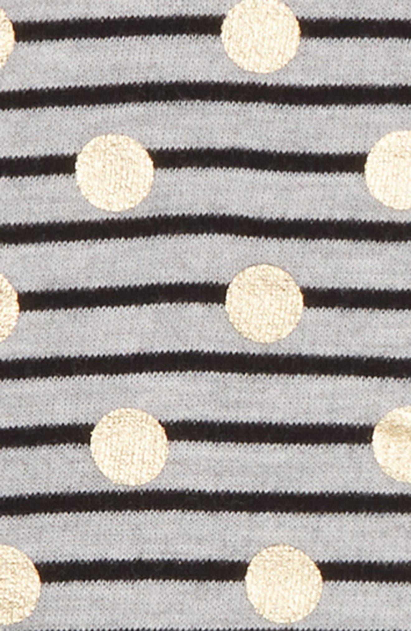 Stripe Print Tunic,                             Alternate thumbnail 2, color,                             GREY ASH HEATHER DOT