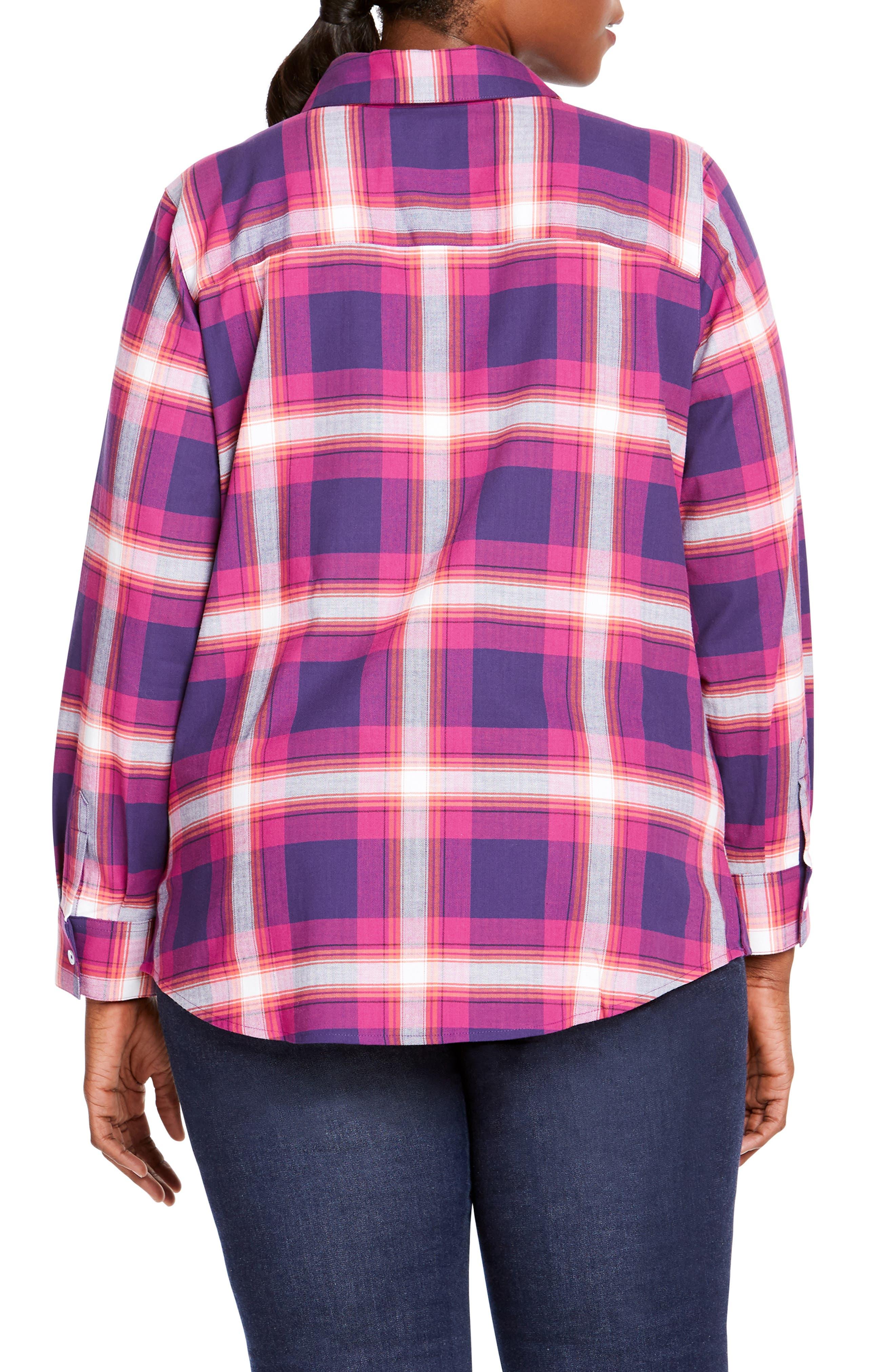 Trisha in Fall Tartan Plaid Shirt,                             Alternate thumbnail 2, color,                             650