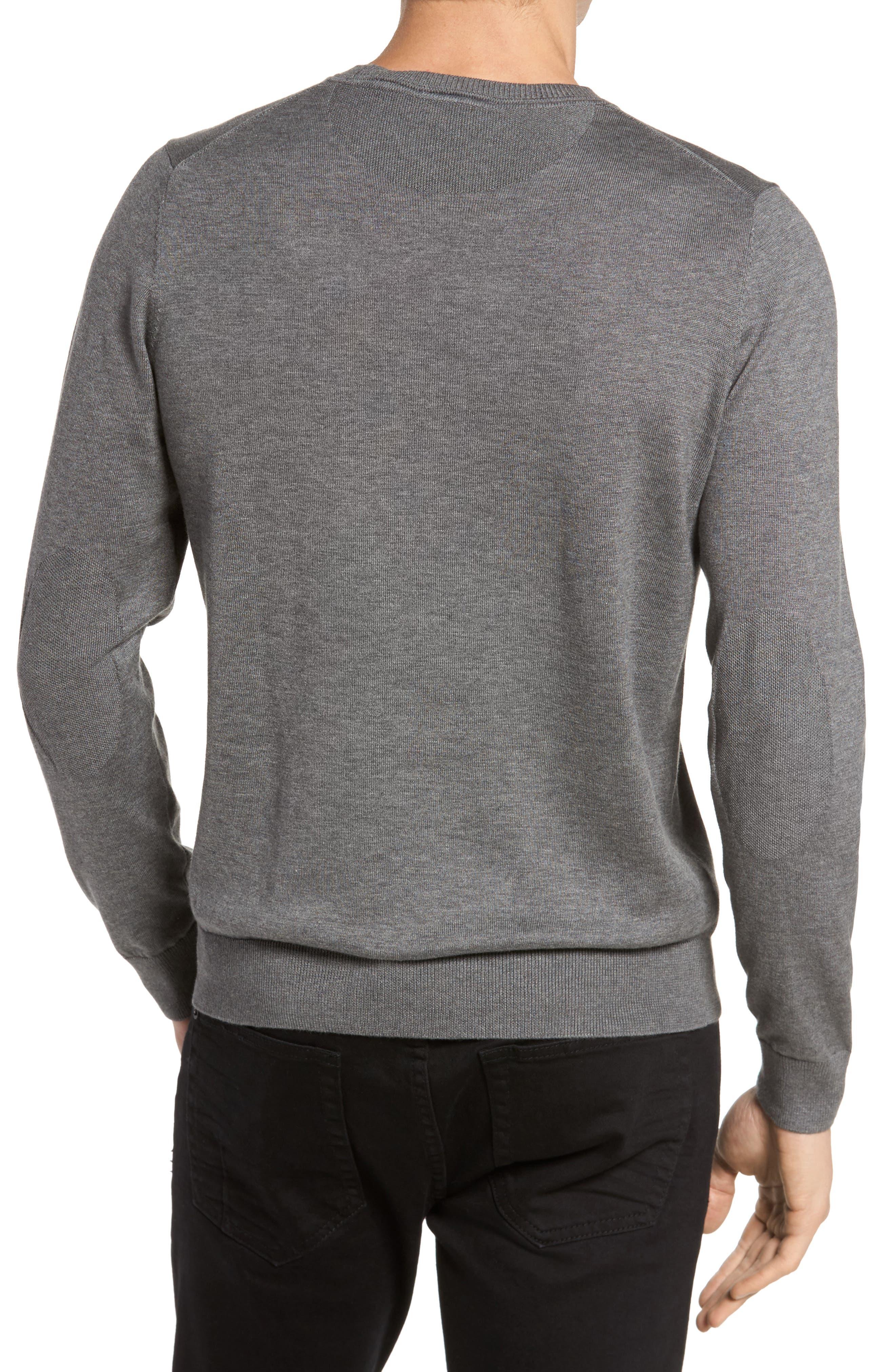 Jersey Knit Crewneck Sweater,                             Alternate thumbnail 2, color,                             032