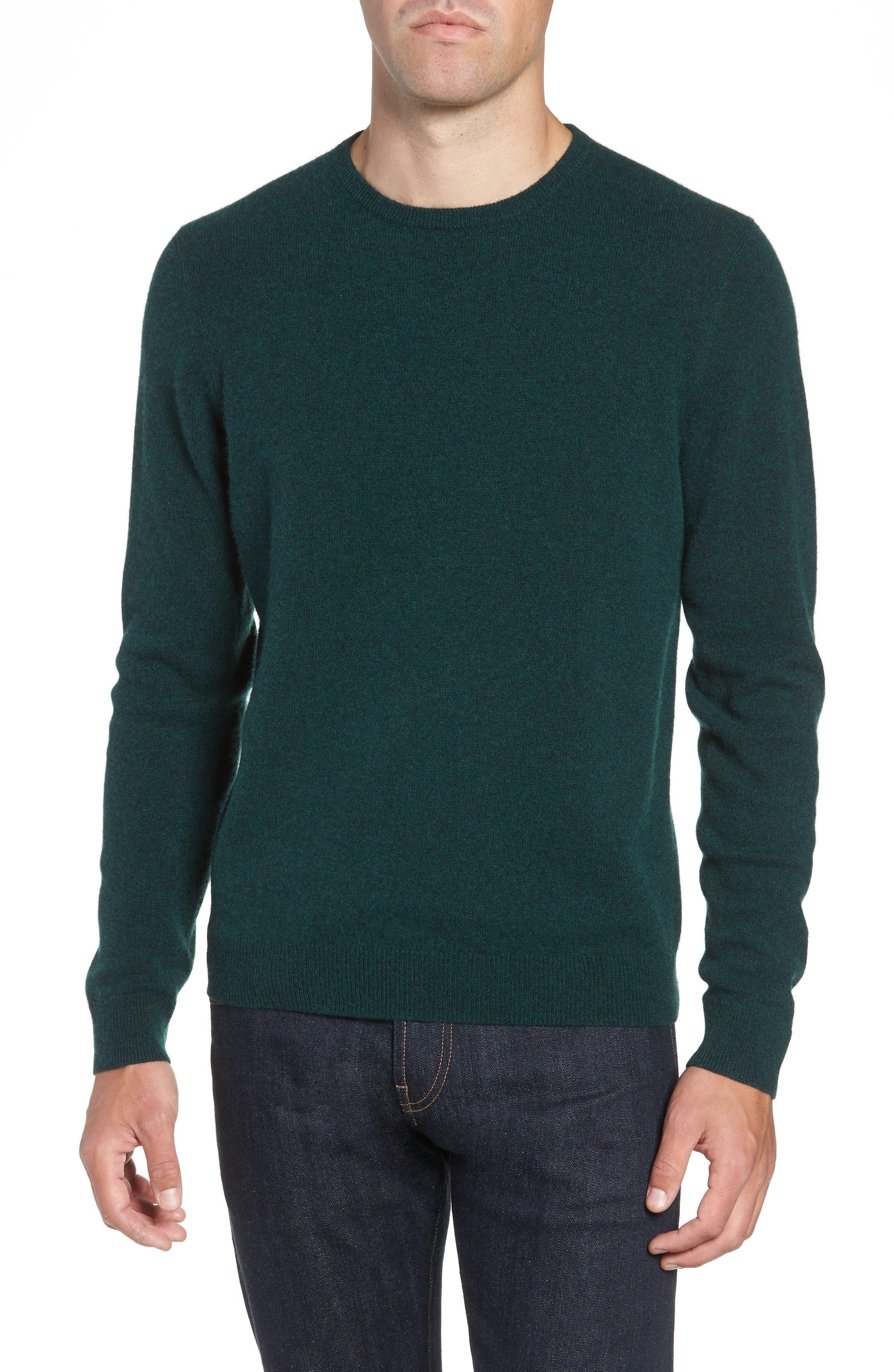 Nordstrom Shop Cashmere Crewneck Sweater, Green