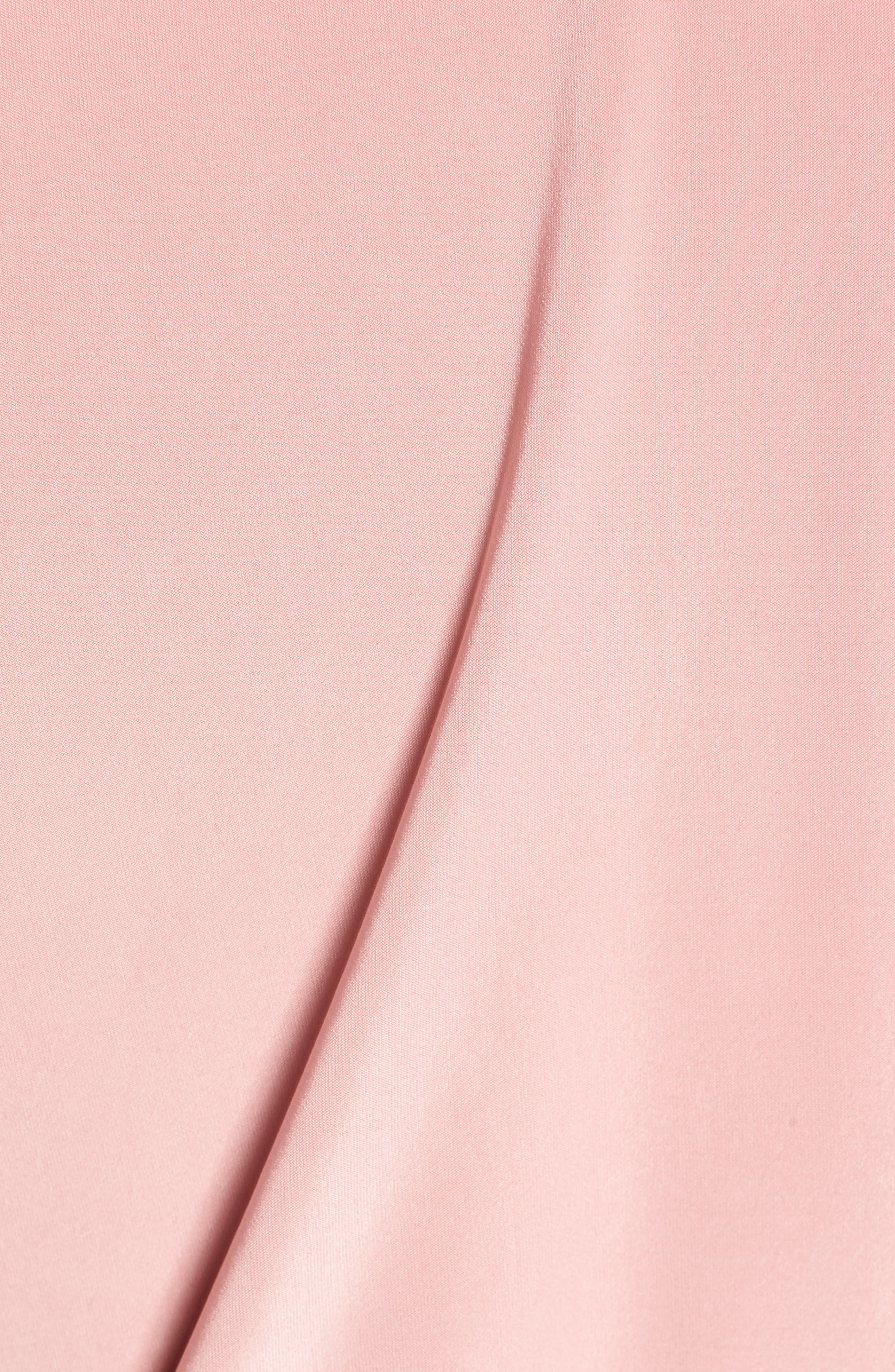 Teget Knot Front Dress,                             Alternate thumbnail 6, color,                             DUSTY ROSE
