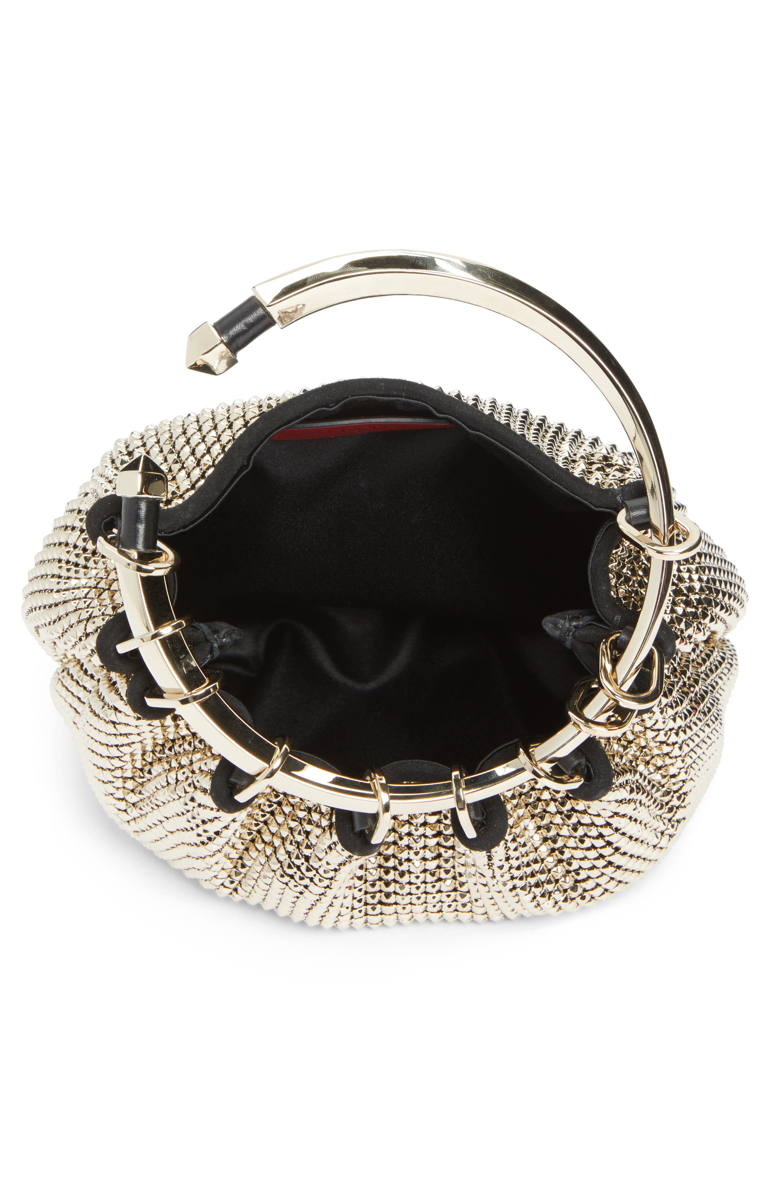 Ring Mesh Clutch,                             Alternate thumbnail 4, color,                             112