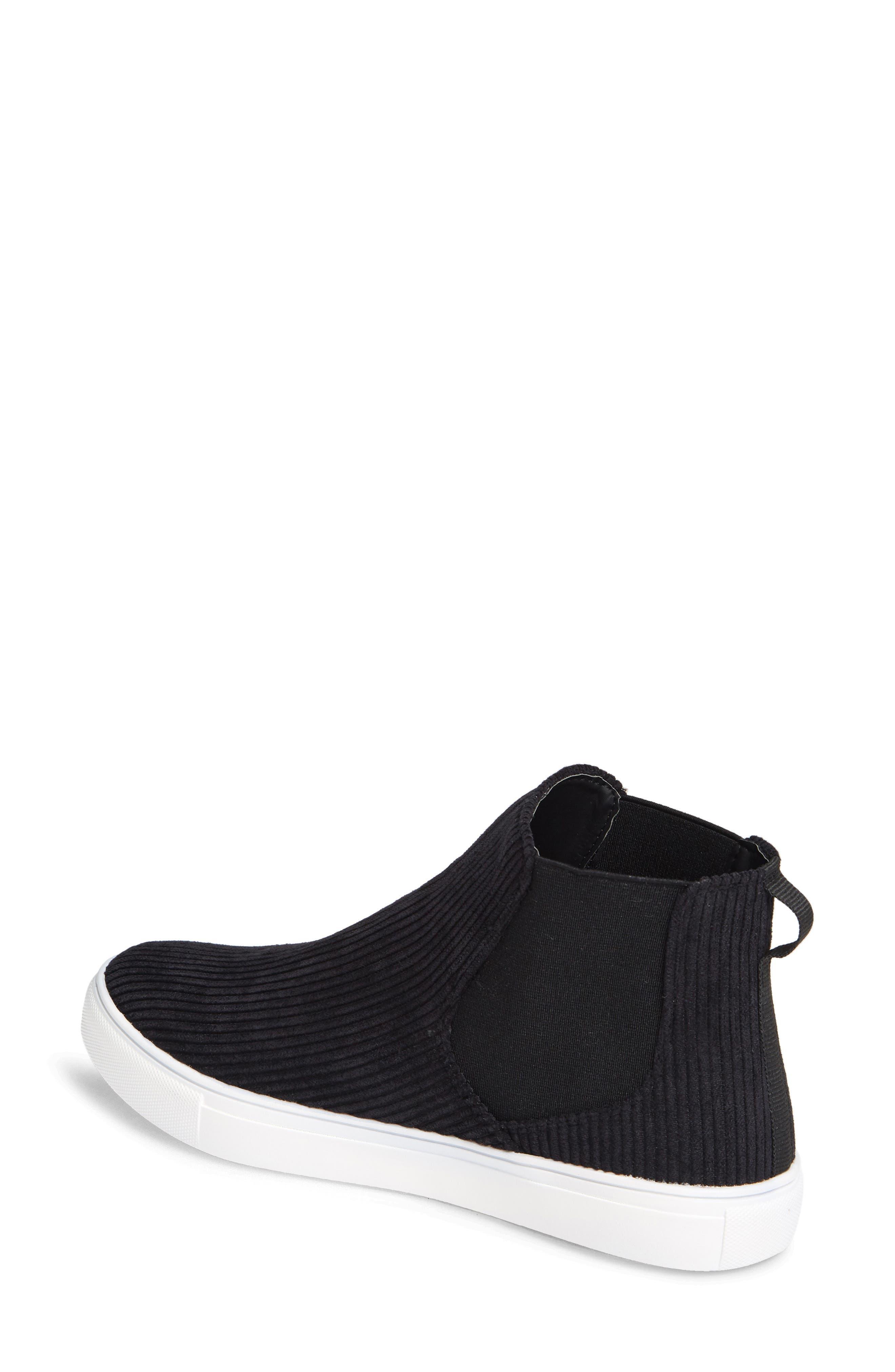 Stratford High Top Sneaker,                             Alternate thumbnail 2, color,                             BLACK FABRIC