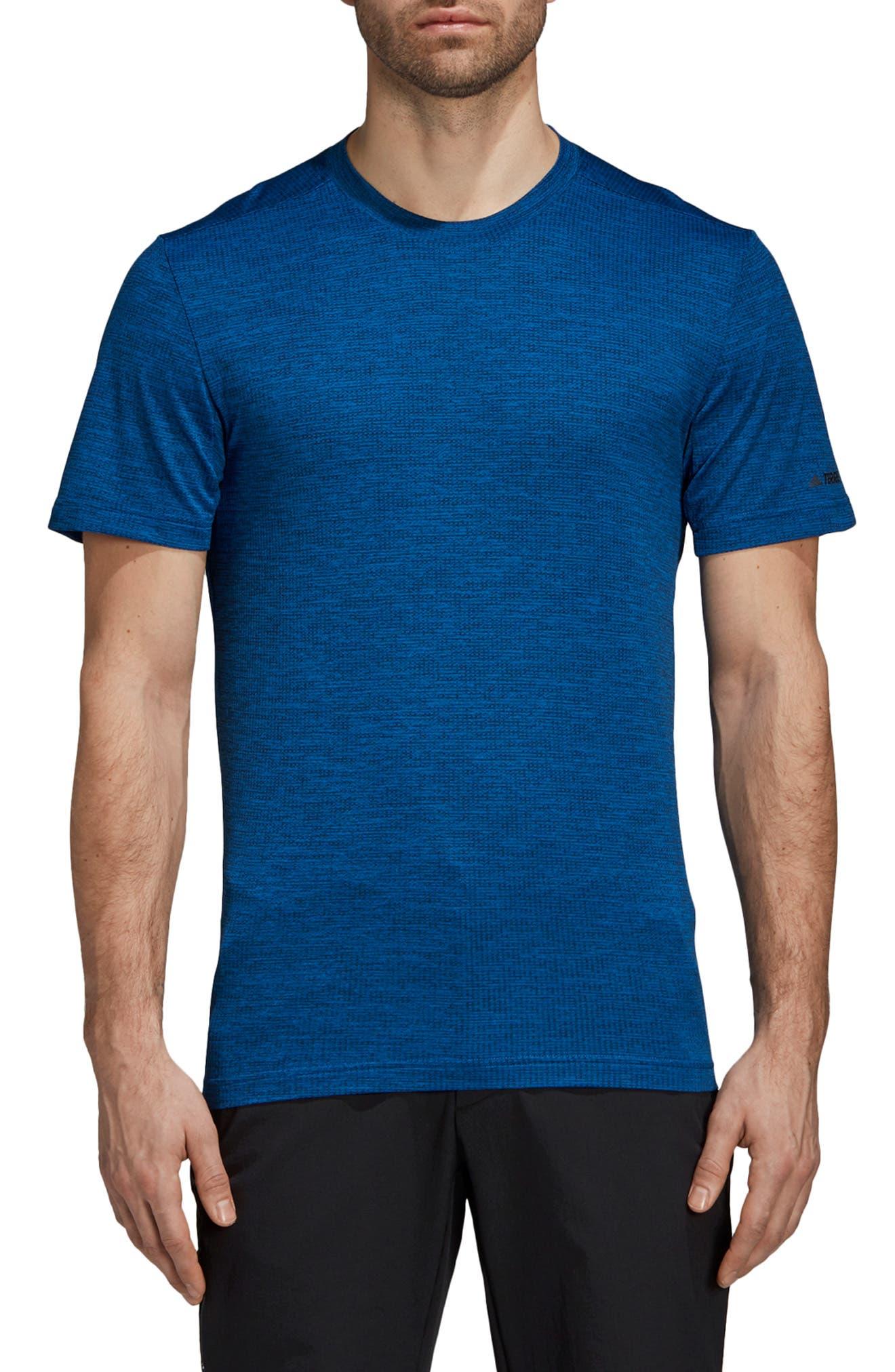 Adidas Tivid Climalite T-Shirt, Blue