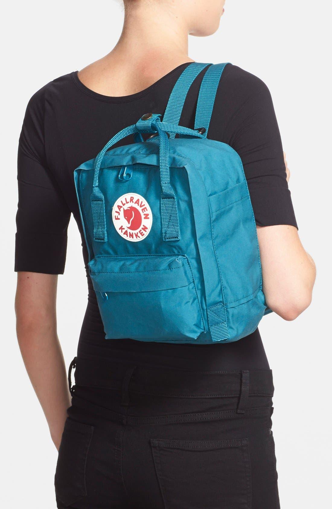 'Mini Kånken' Water Resistant Backpack,                             Alternate thumbnail 2, color,                             OCEAN GREEN