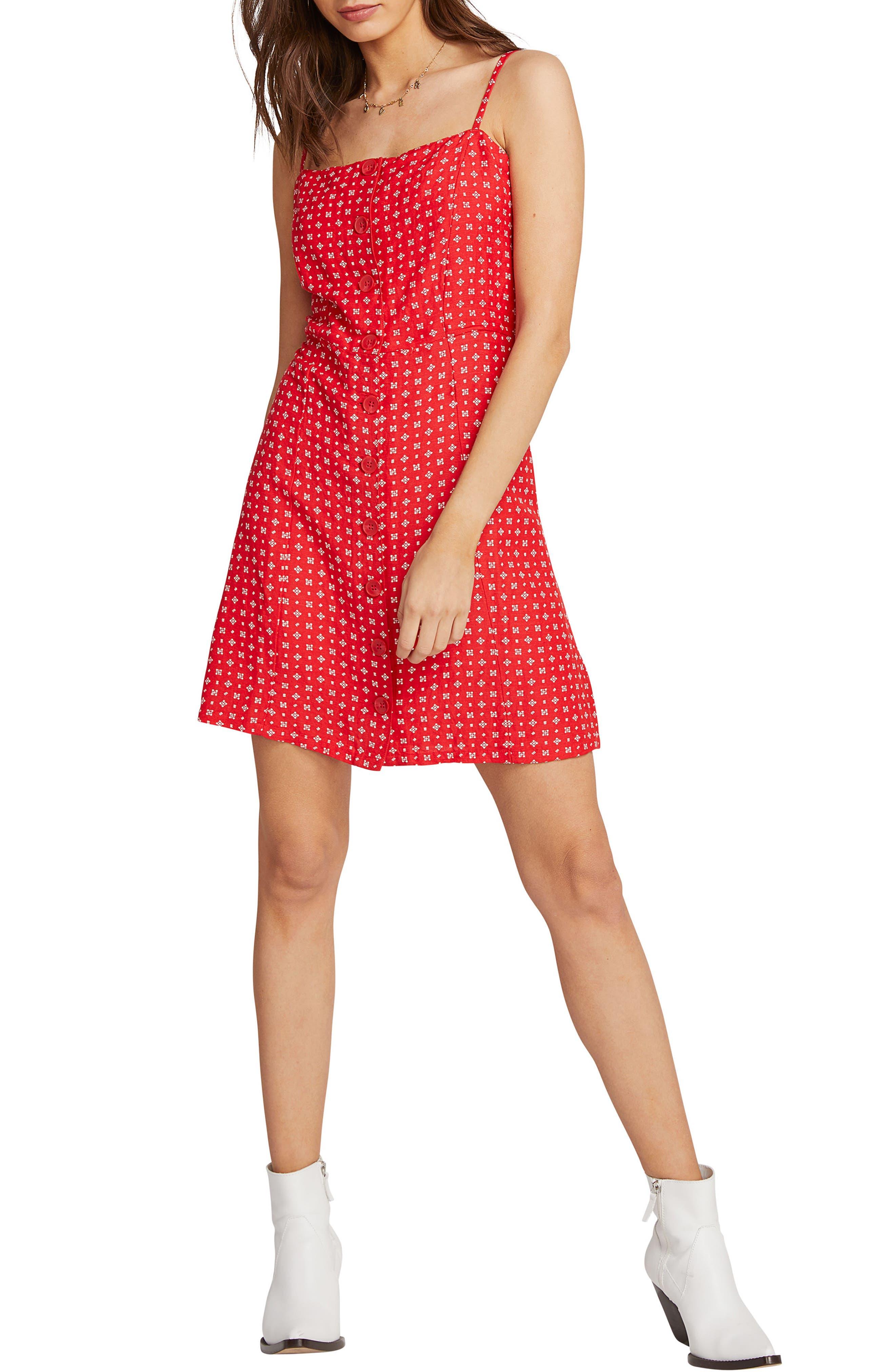 Volcom Salt And Sun Minidress, Red