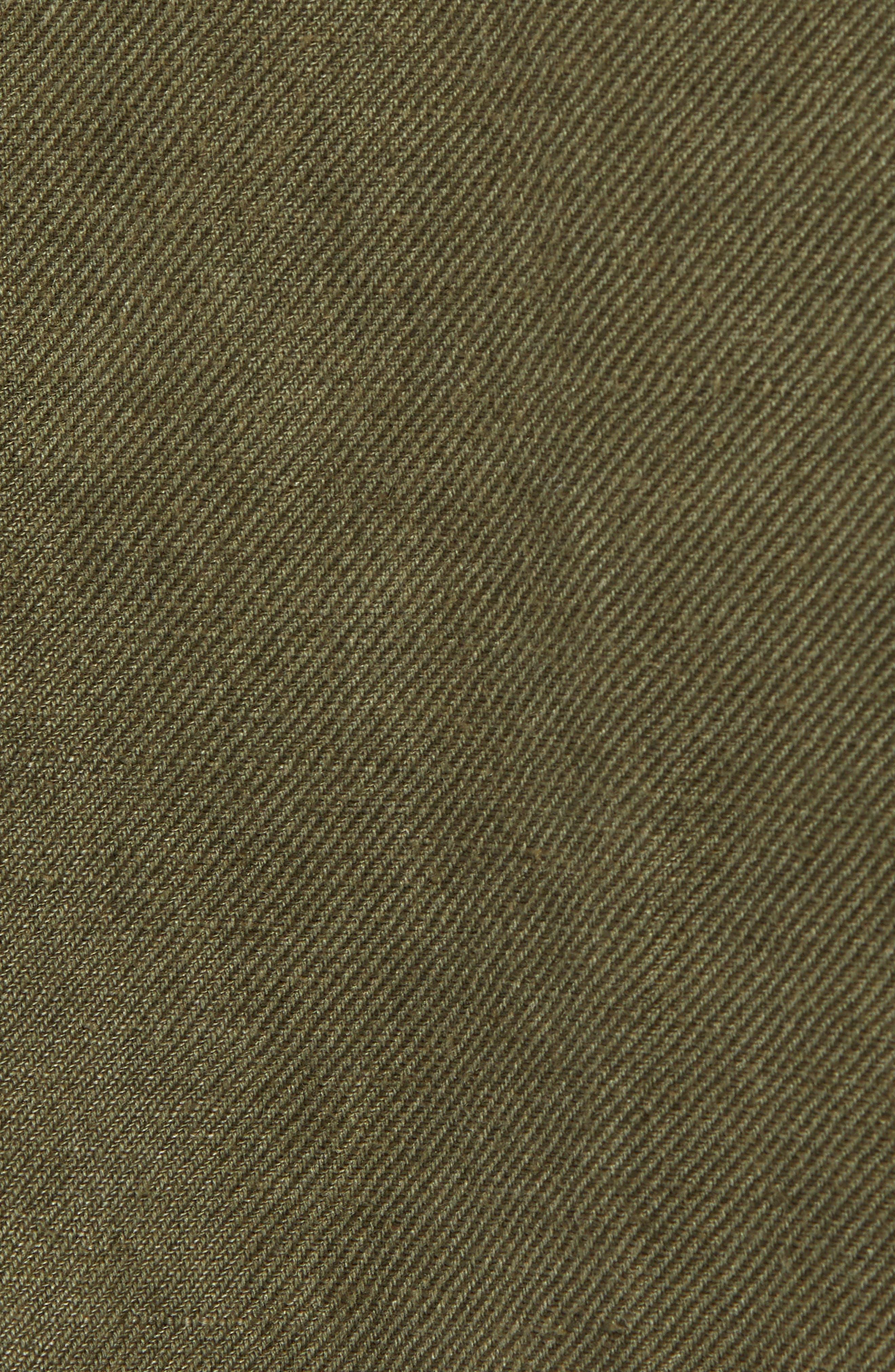 Linen Blend Field Jacket,                             Alternate thumbnail 7, color,                             OLIVE SARMA
