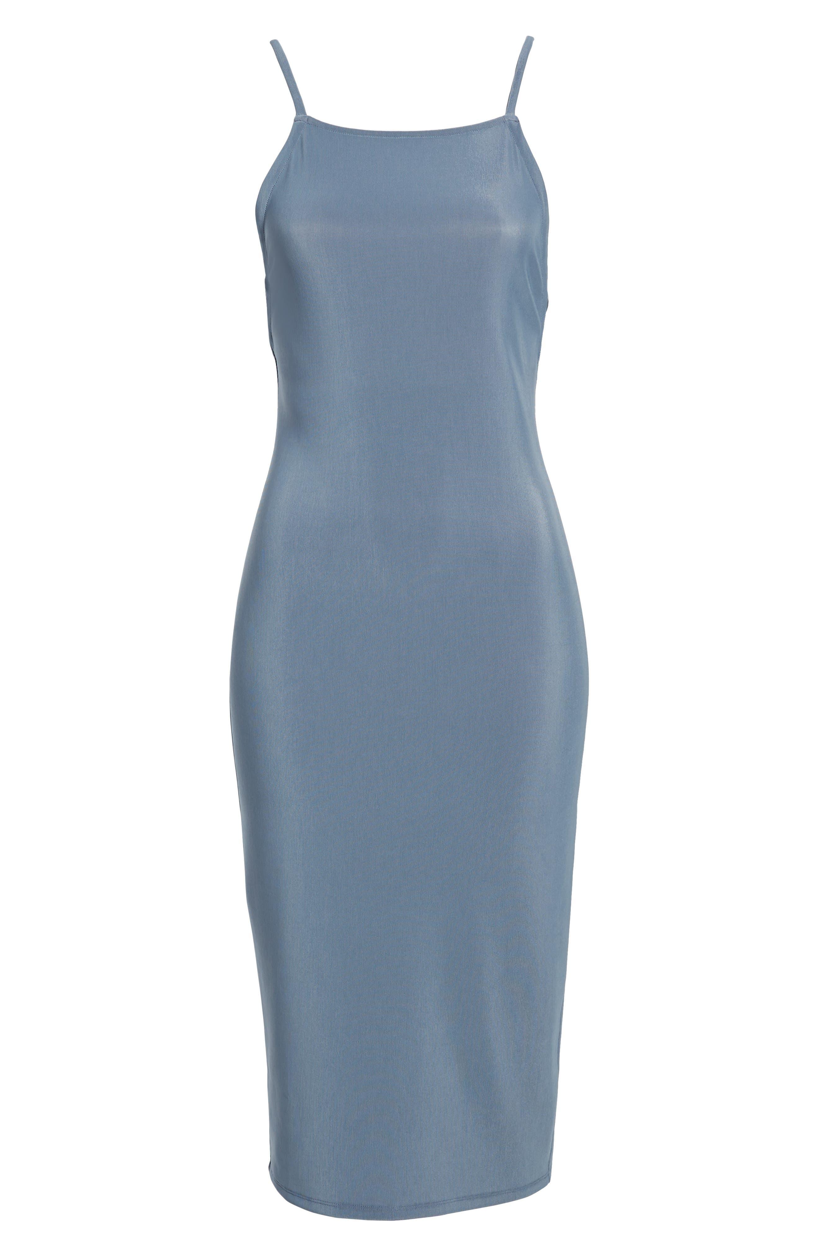 Strappy Bodycon Dress,                             Alternate thumbnail 7, color,                             030