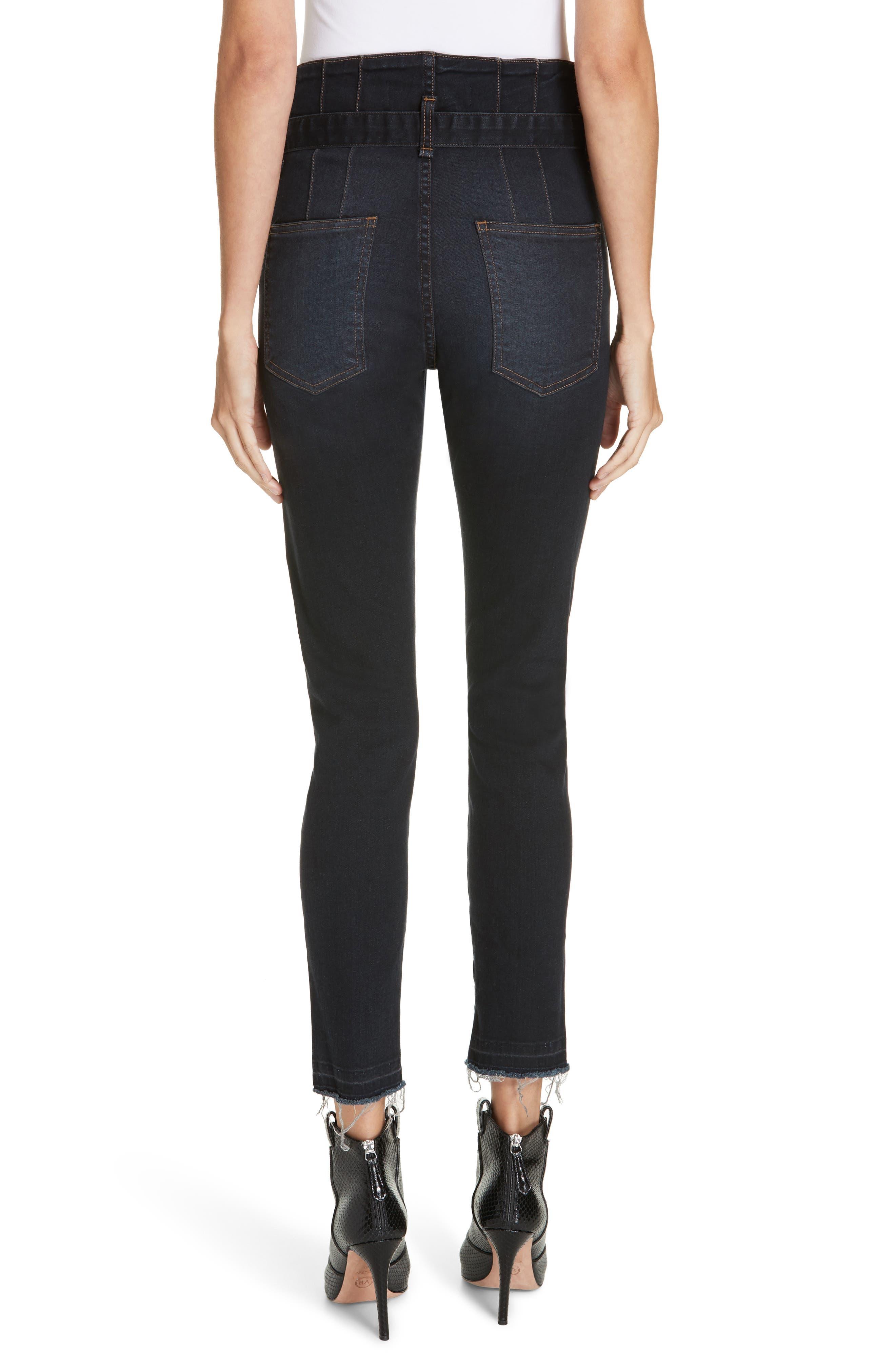 Keith Corset Waist Skinny Jeans,                             Alternate thumbnail 2, color,                             DARK SLATE