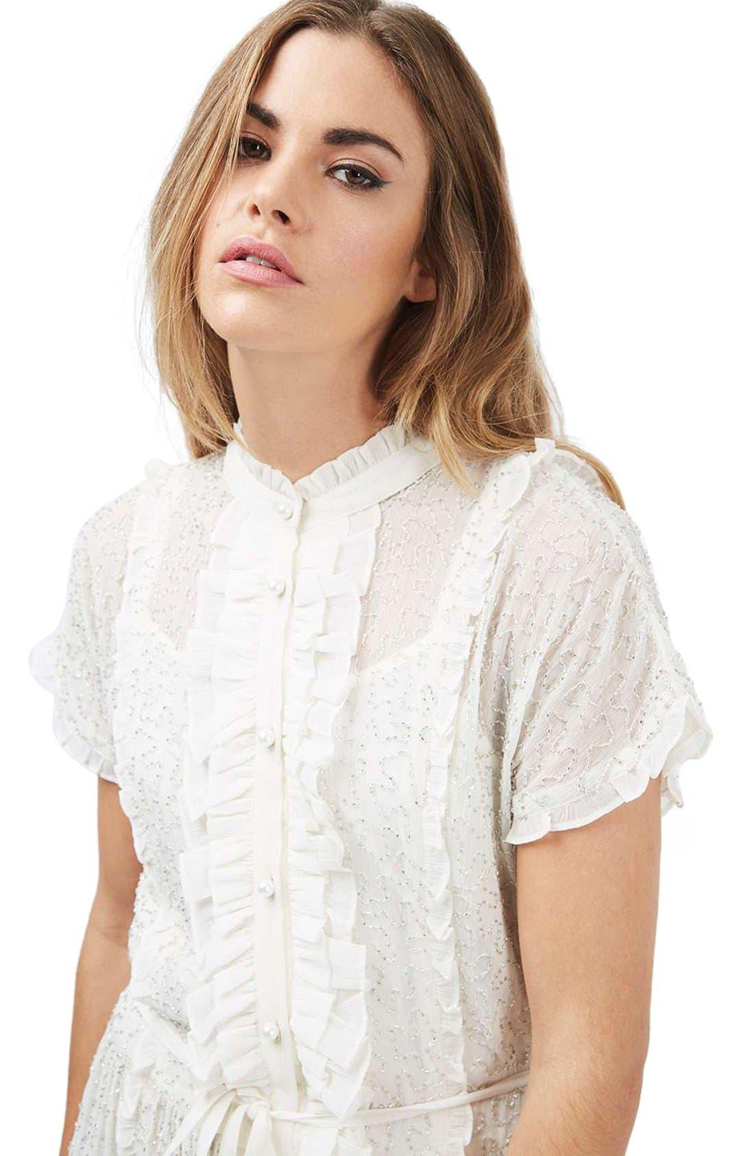 Embellished Shirtdress,                             Alternate thumbnail 5, color,                             900
