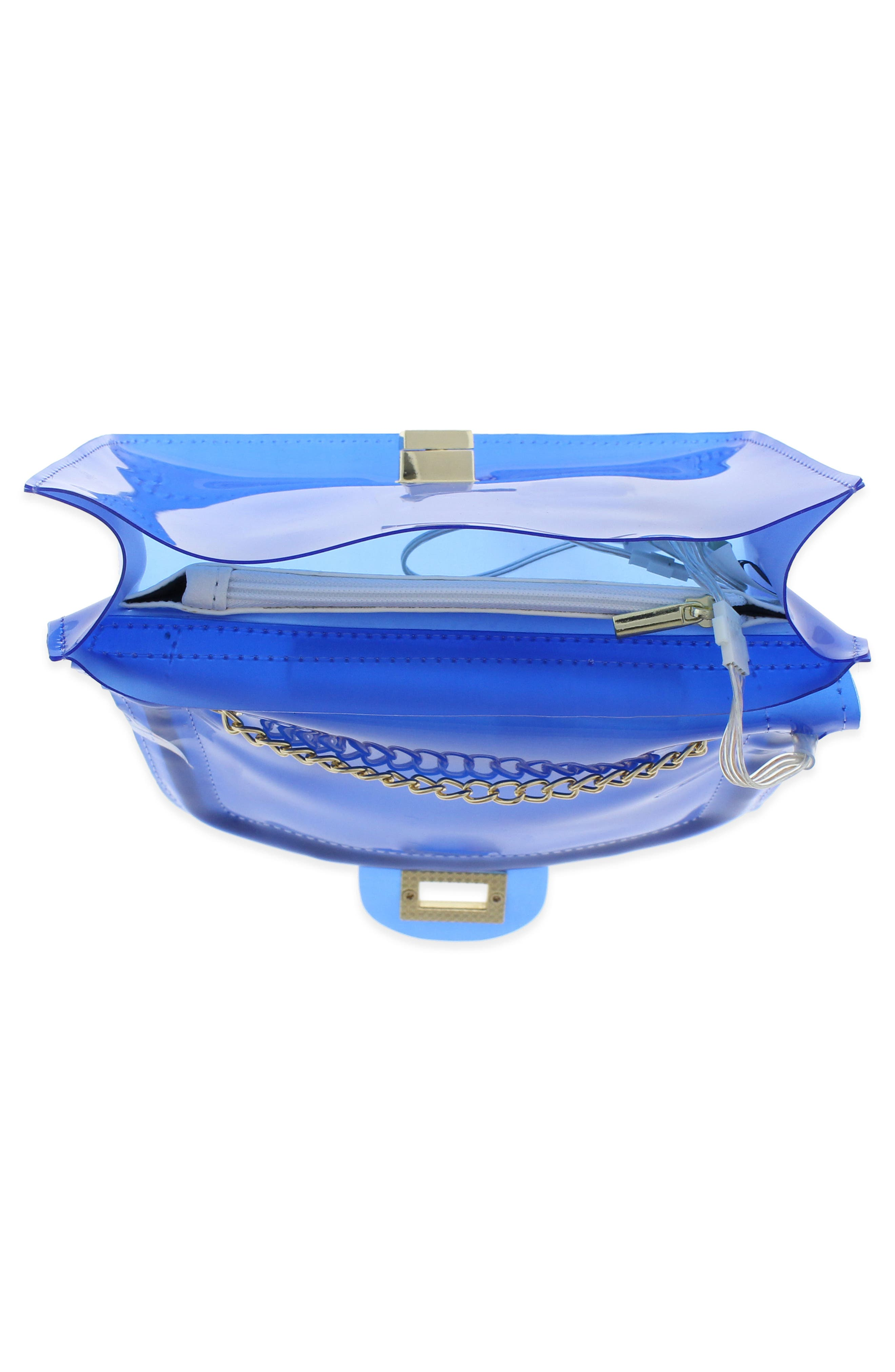 LED Light-Up Jelly Crossbody Bag,                             Alternate thumbnail 3, color,                             435