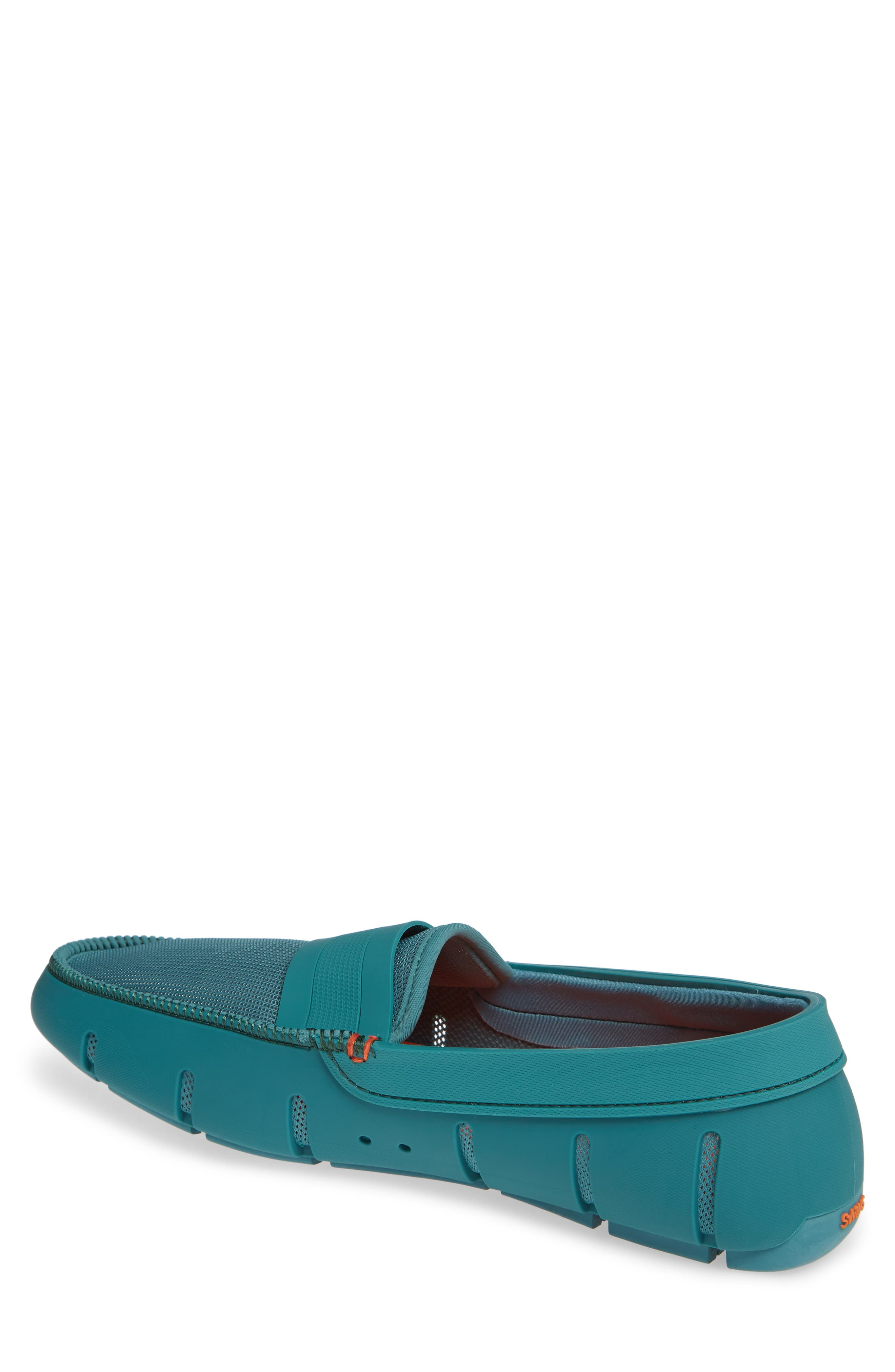 Stride Driving Loafer,                             Alternate thumbnail 2, color,                             TEAL GREEN