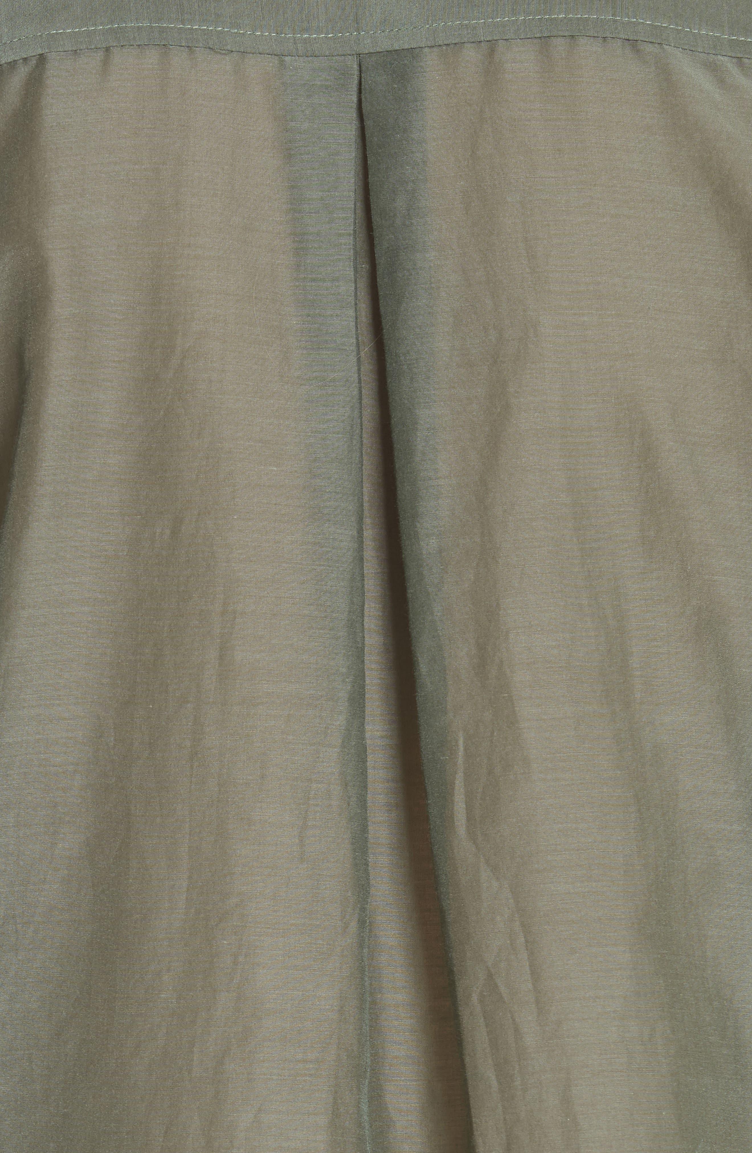 Essential Cotton & Silk Shirt,                             Alternate thumbnail 5, color,