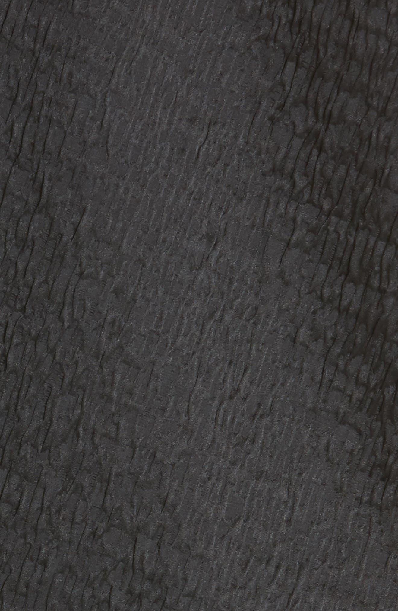 Koya Crinkle Stretch Coat,                             Alternate thumbnail 6, color,                             001