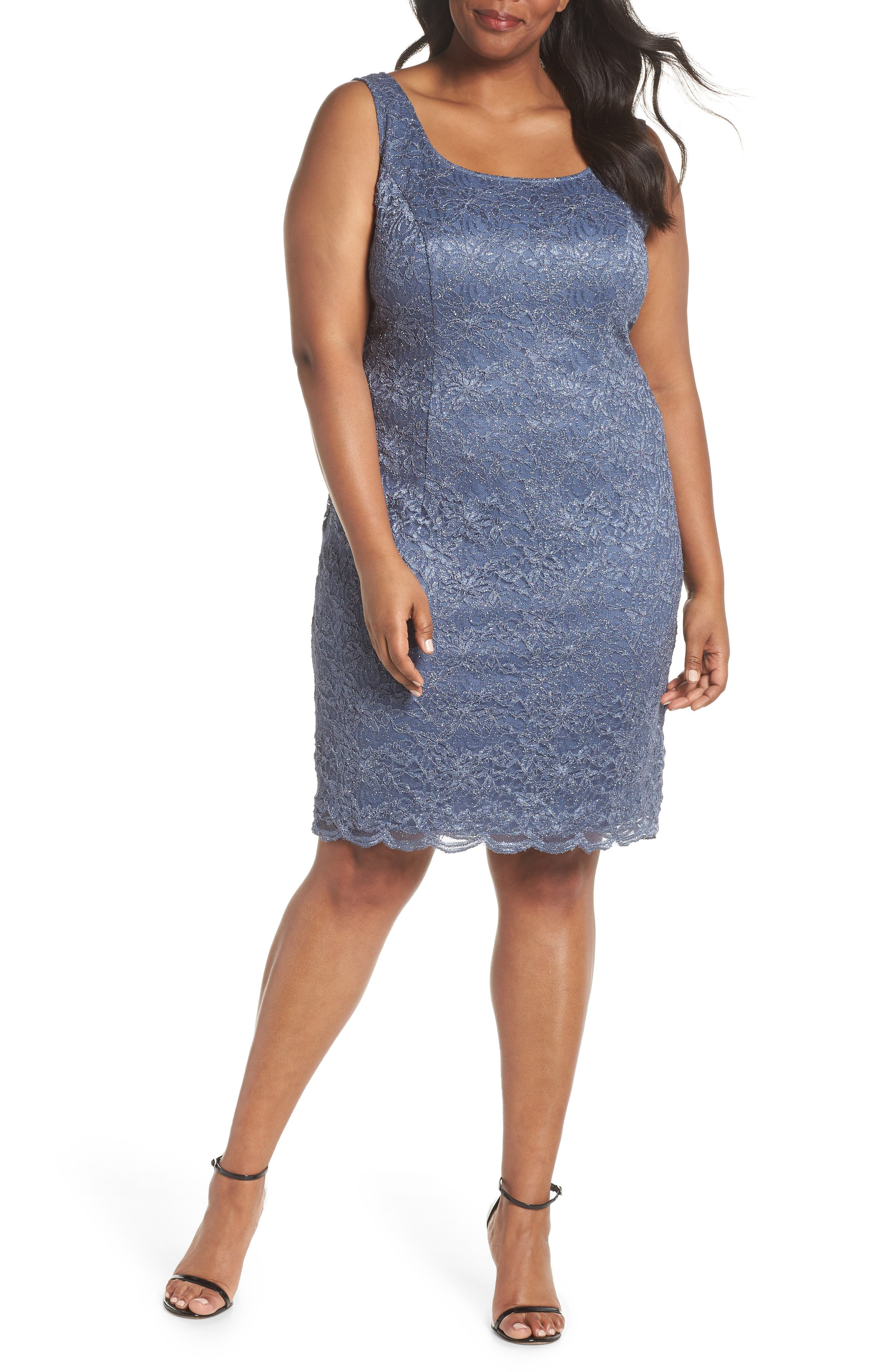 Lace Sheath Dress with Jacket,                             Alternate thumbnail 3, color,                             GREY