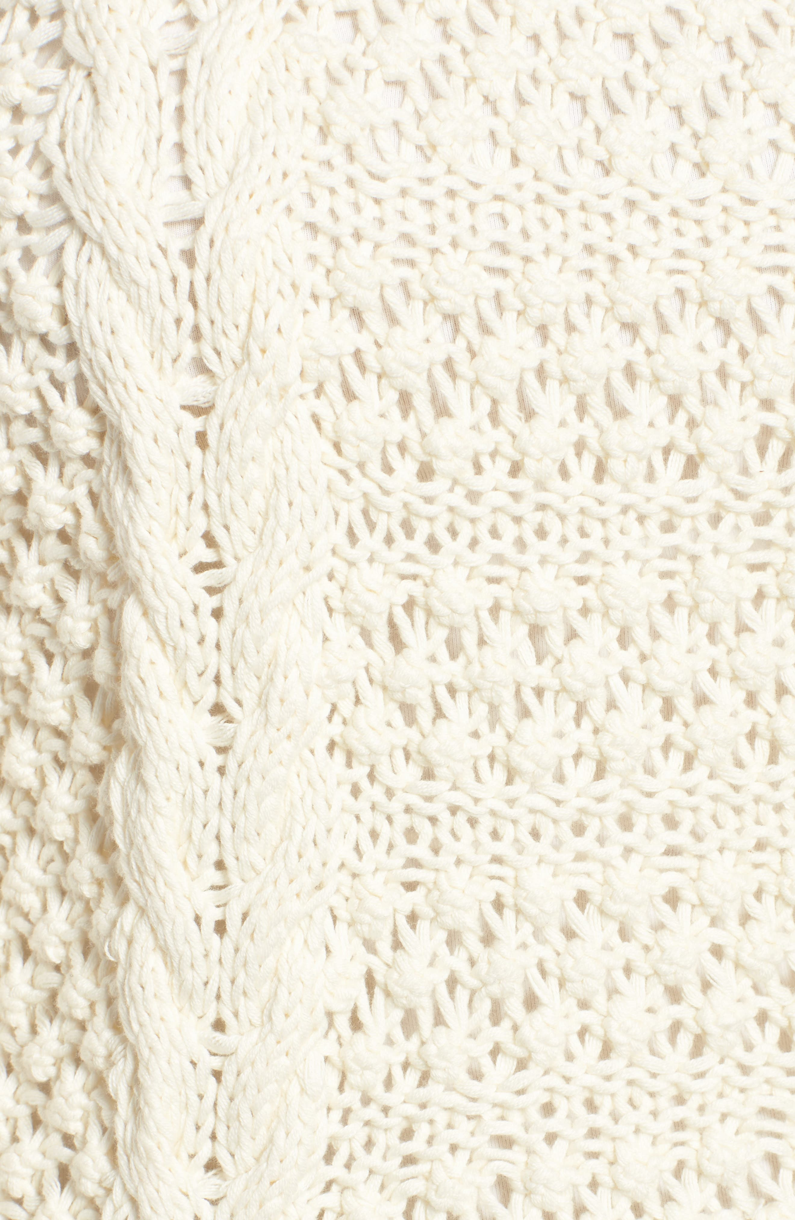 Popcorn Cable Sweater,                             Alternate thumbnail 5, color,                             905
