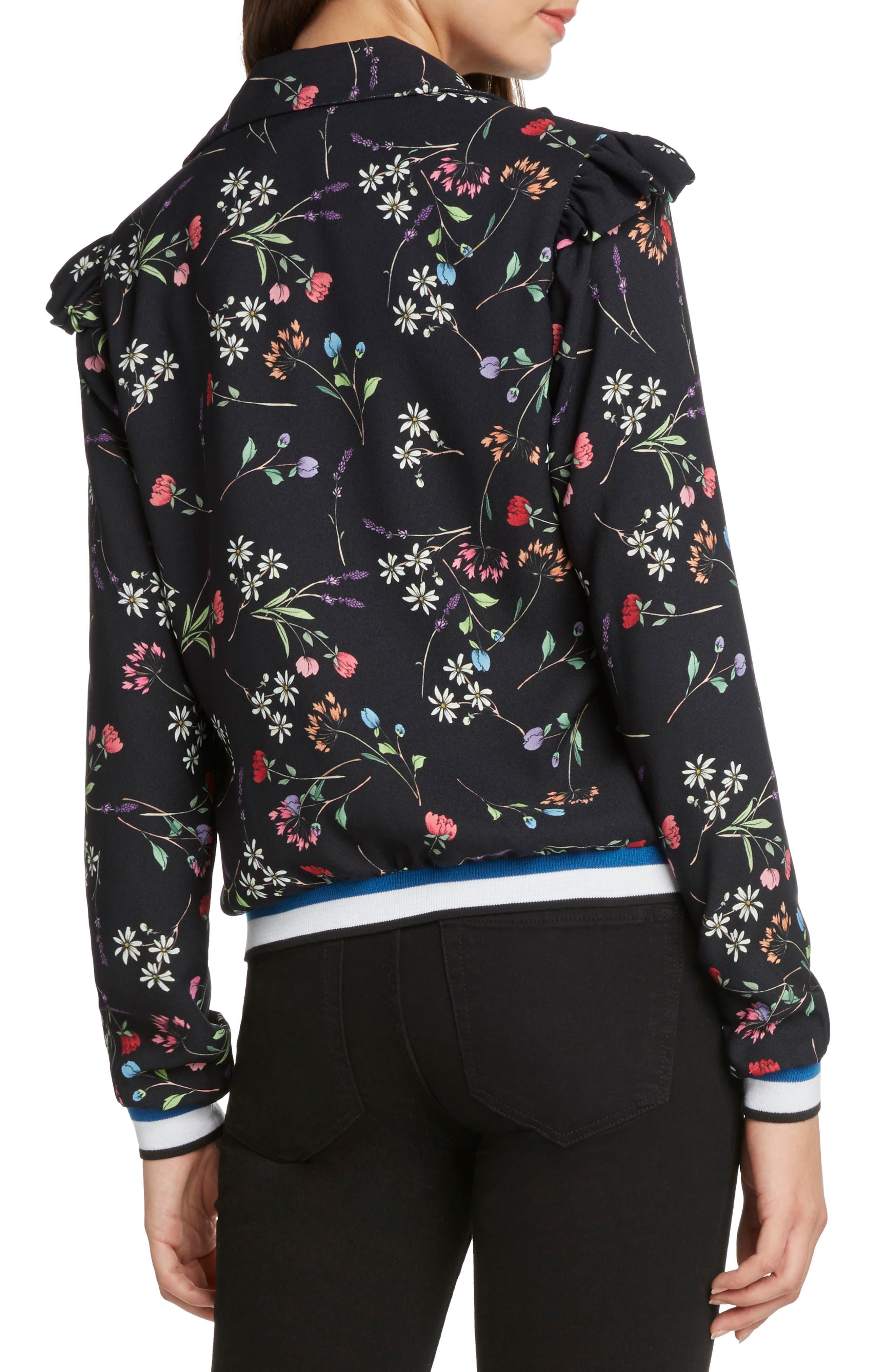 Floral Track Jacket,                             Alternate thumbnail 2, color,                             001