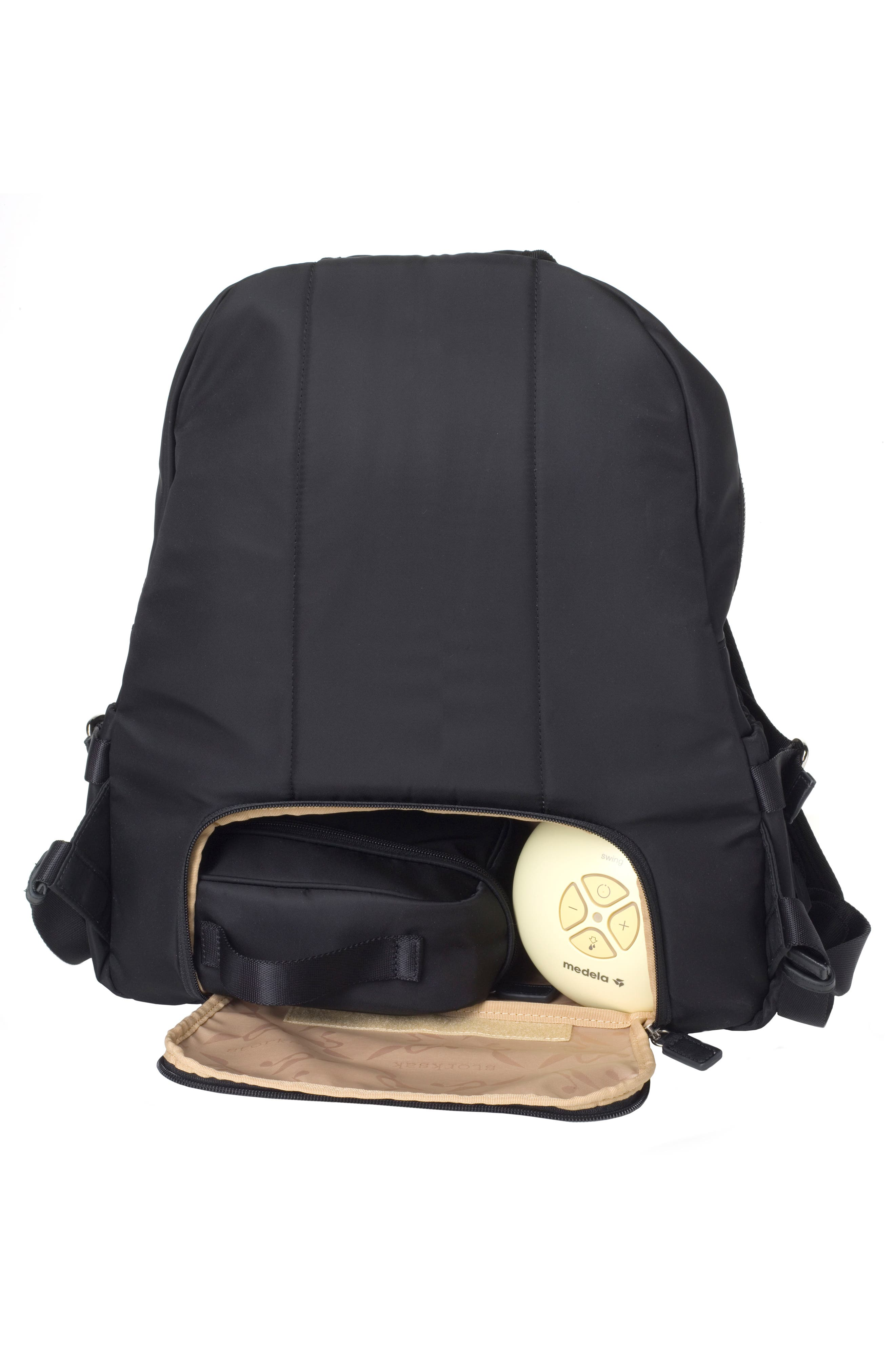 Hero Water Resistant Nylon Backpack Diaper Bag,                             Alternate thumbnail 12, color,                             BLACK