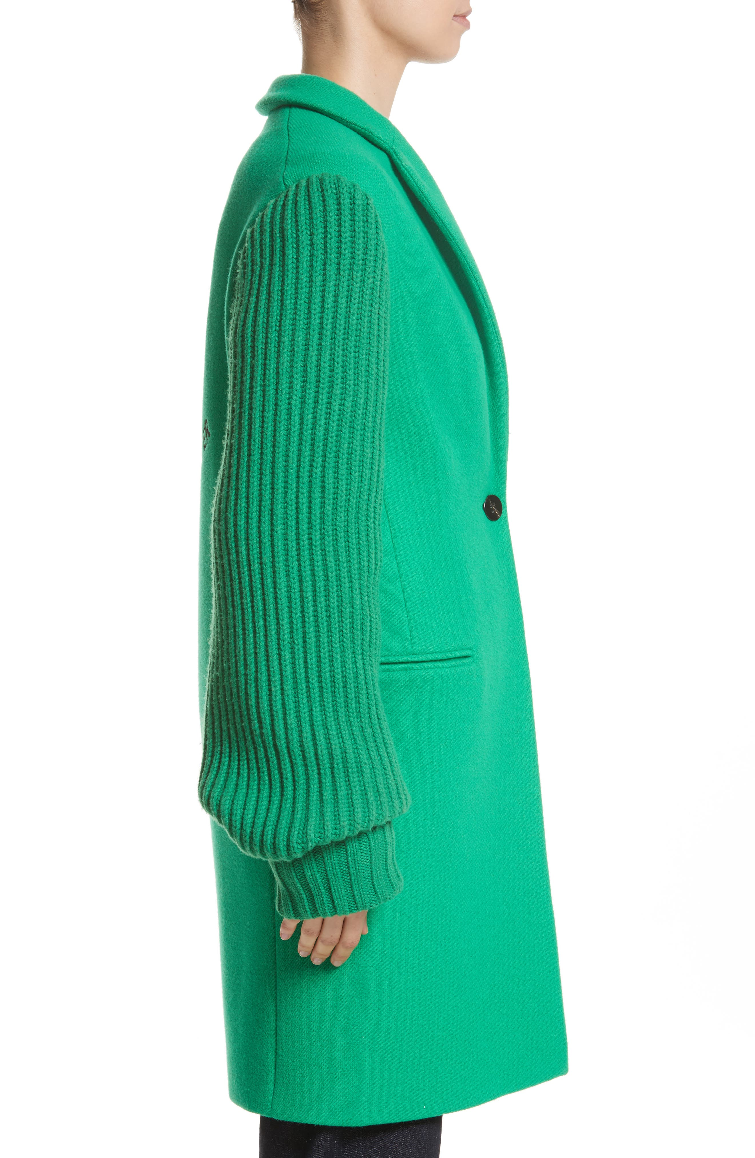 Ask Me Later Embroidered Knit Sleeve Coat,                             Alternate thumbnail 3, color,                             300