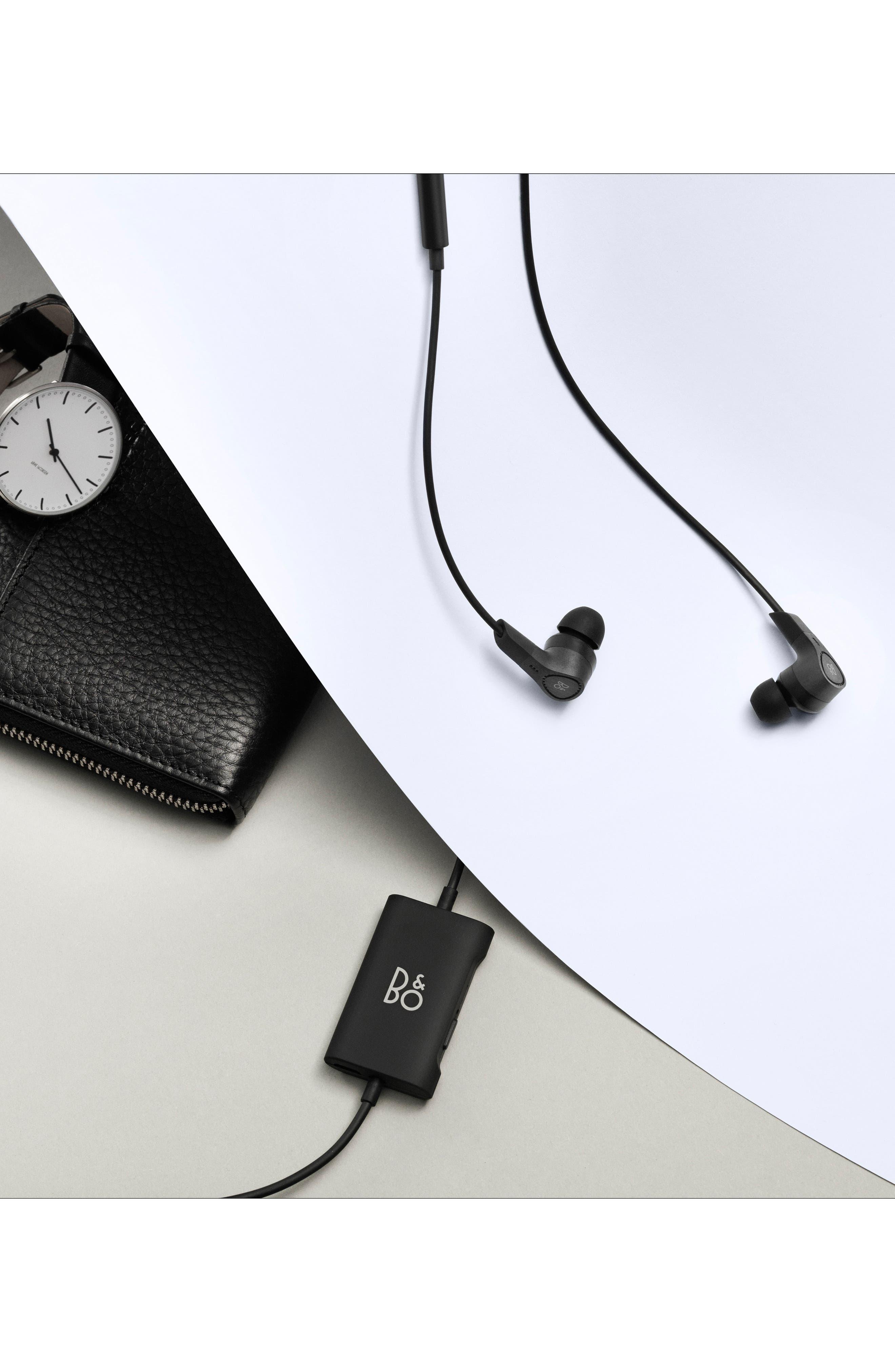 B&O PLAY E4 Noise Canceling In-Ear Headphones,                             Alternate thumbnail 7, color,                             BLACK