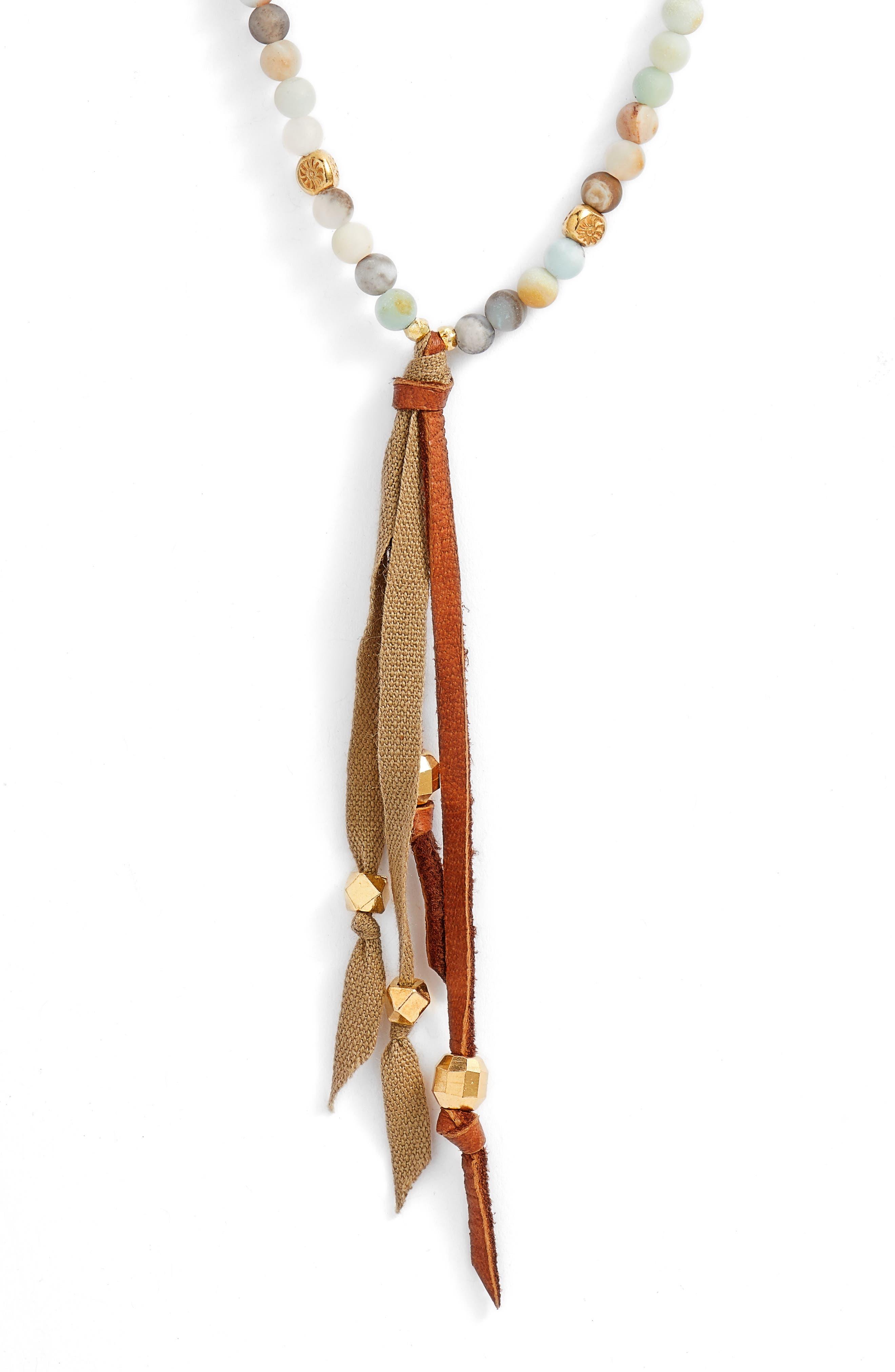 Redesign Tassel Pendant Beaded Necklace,                             Alternate thumbnail 2, color,                             MATTE MULTI